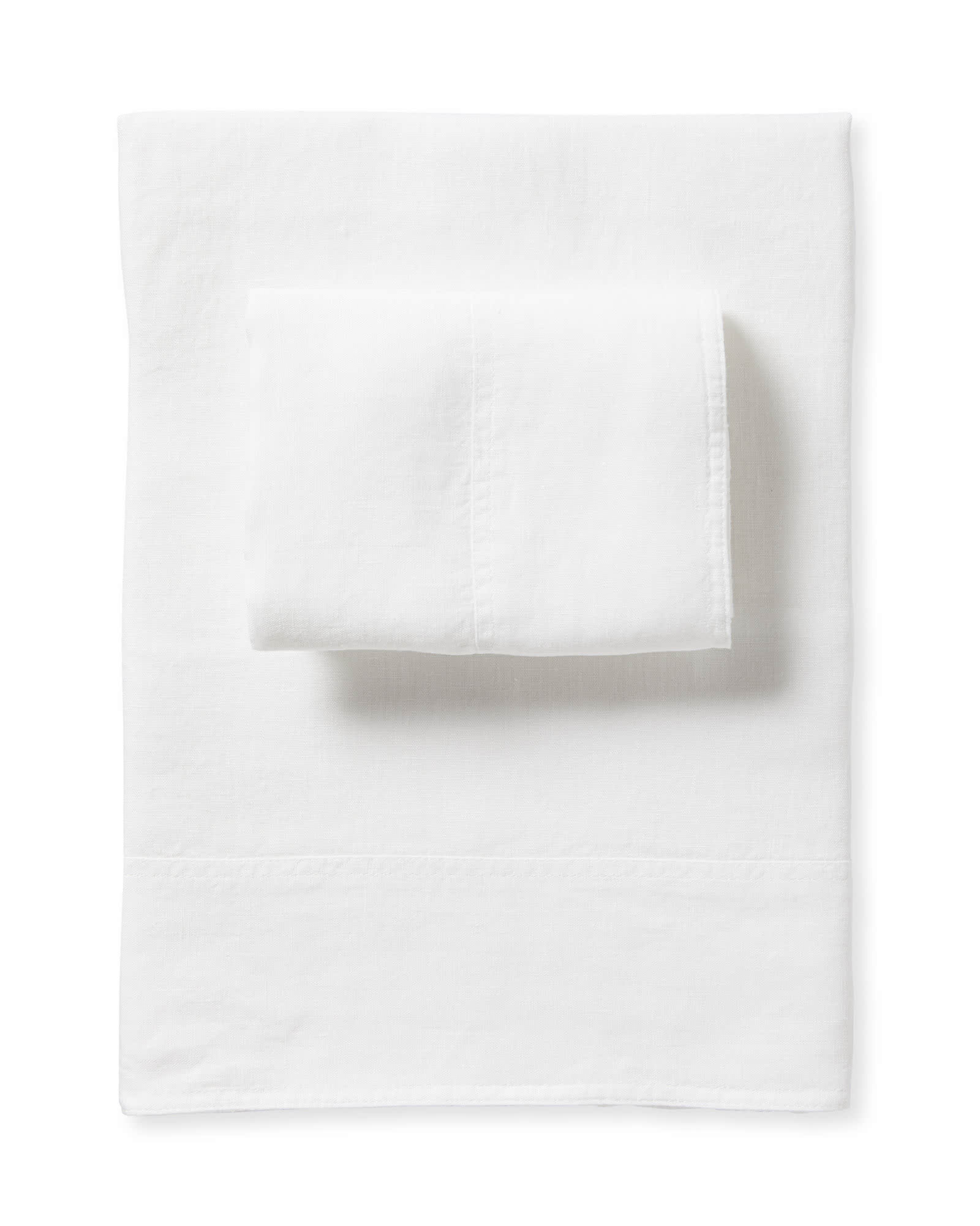 Positano Linen Sheet Set, White