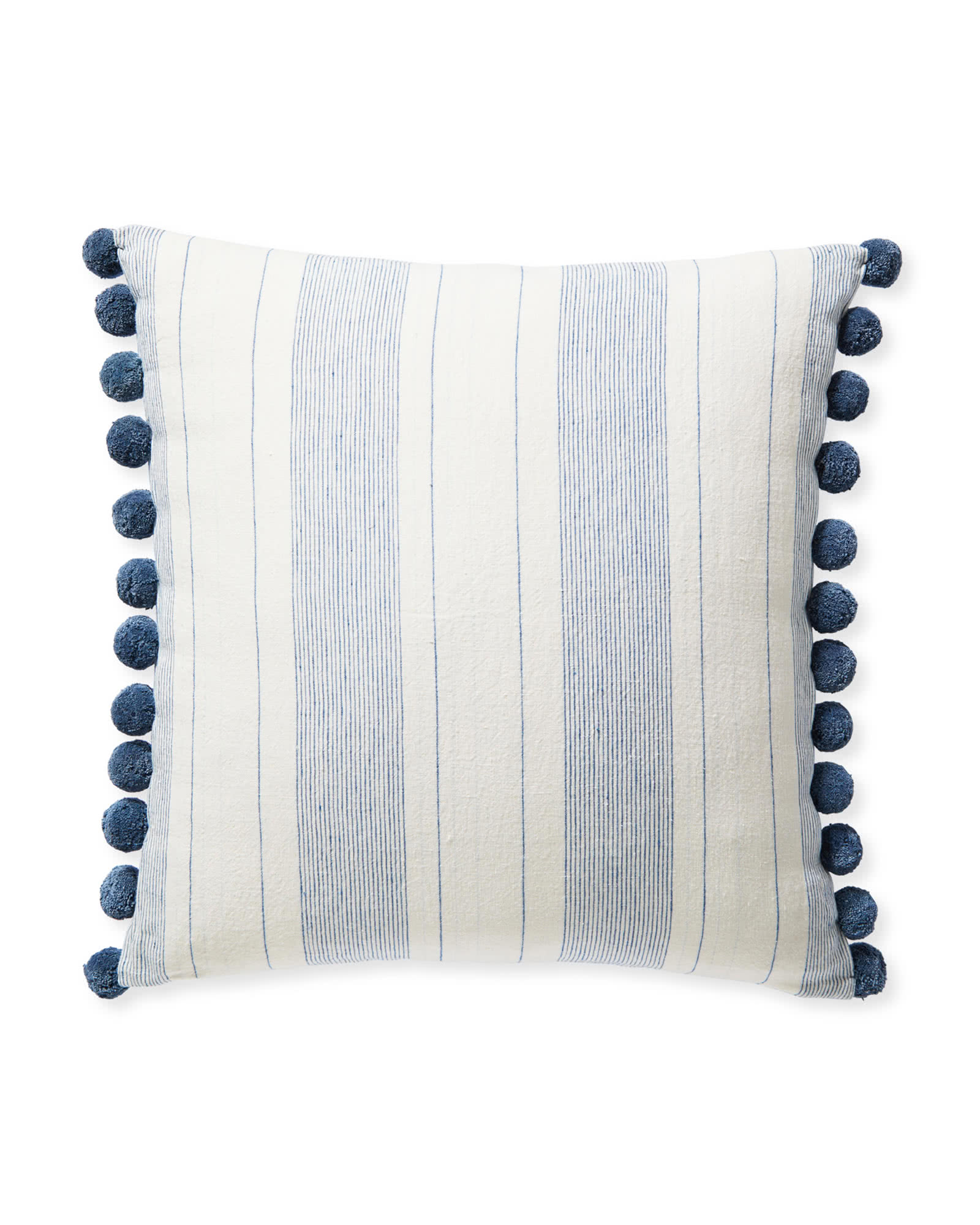 Luca Pillow Cover, Washed Indigo