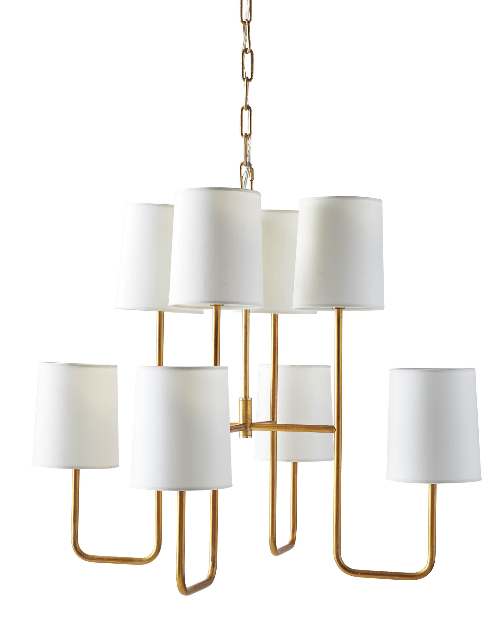 Fairmont Chandelier, Gilded/White