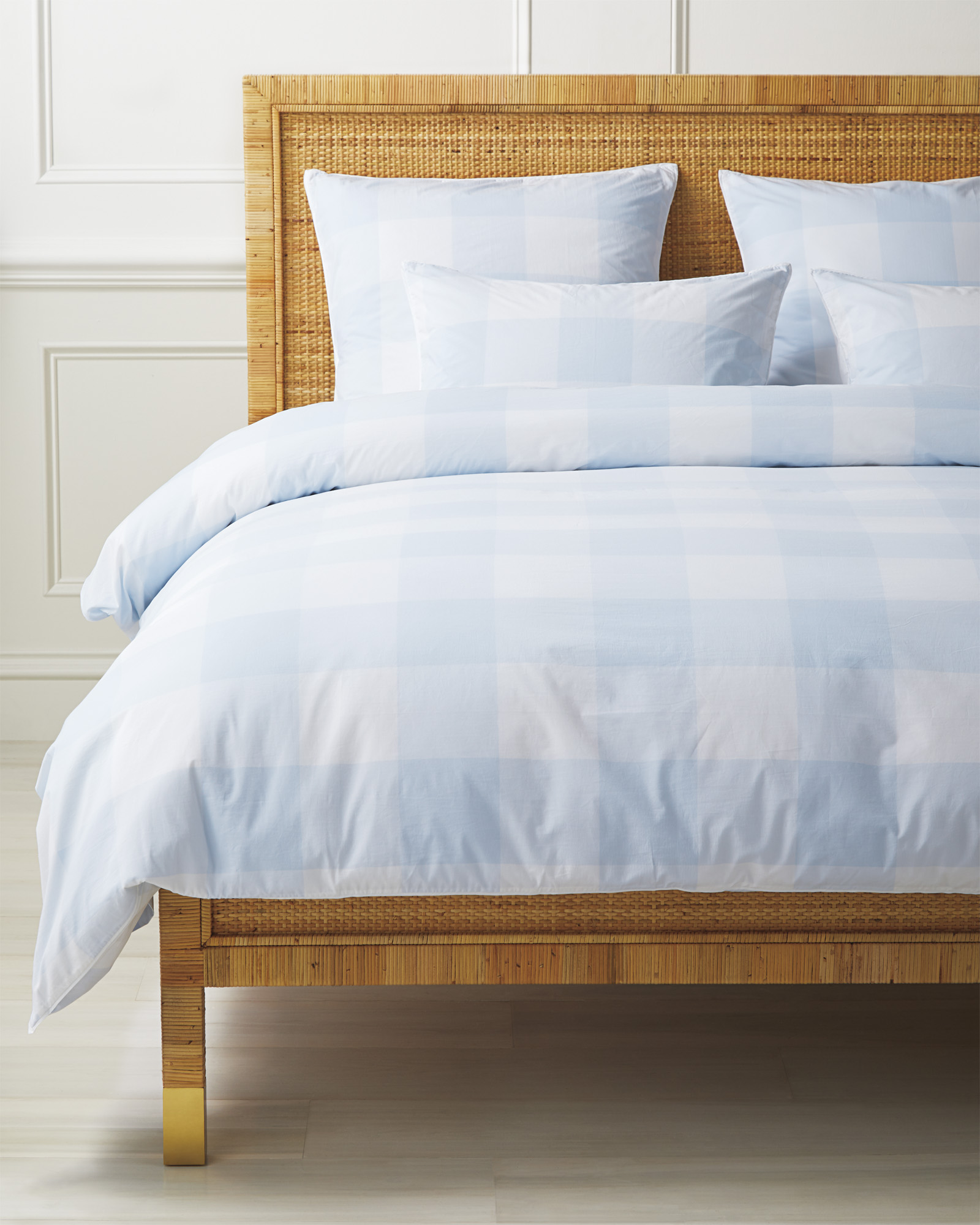 Gingham Duvet Cover, Sky