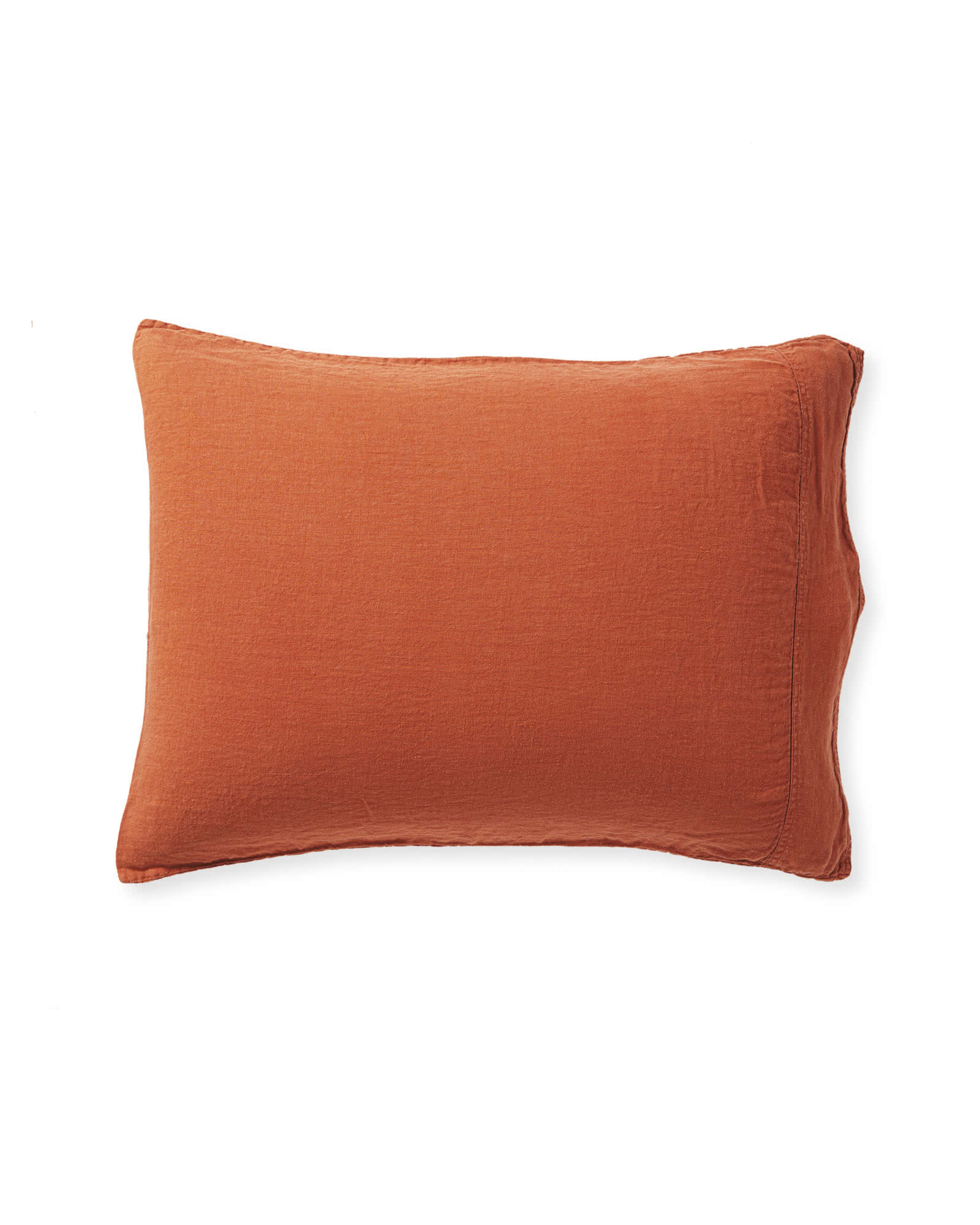 Positano Linen Pillowcases (Extra Set of 2), Terracotta