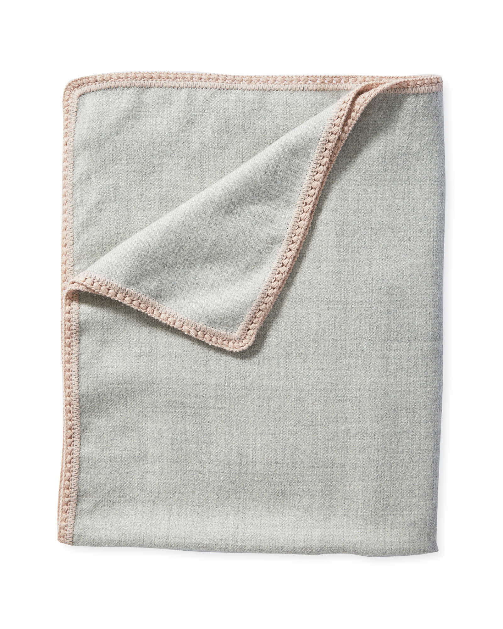 Summit Mini Blanket, Grey/Pink