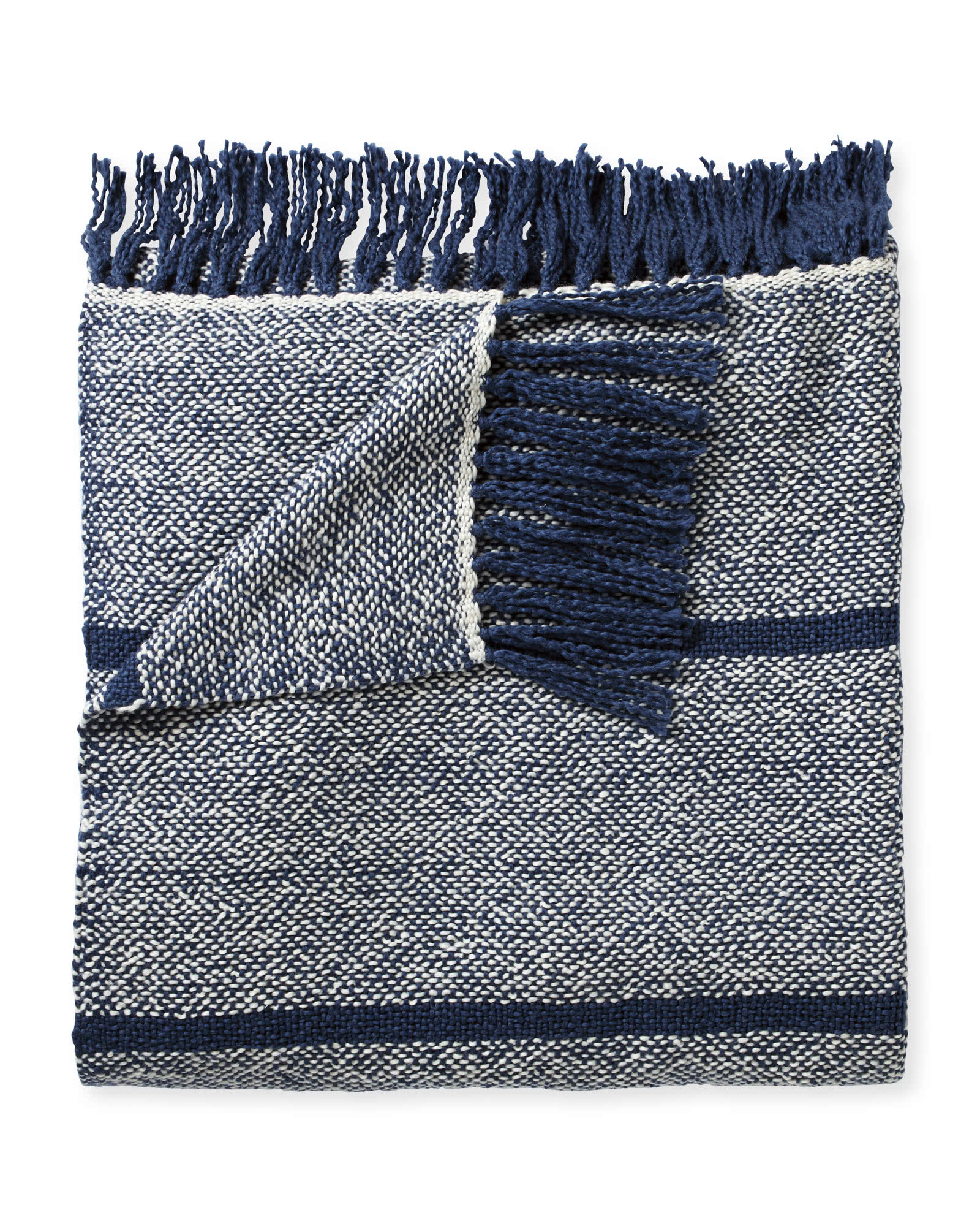 Oceana Cotton Throw, Navy