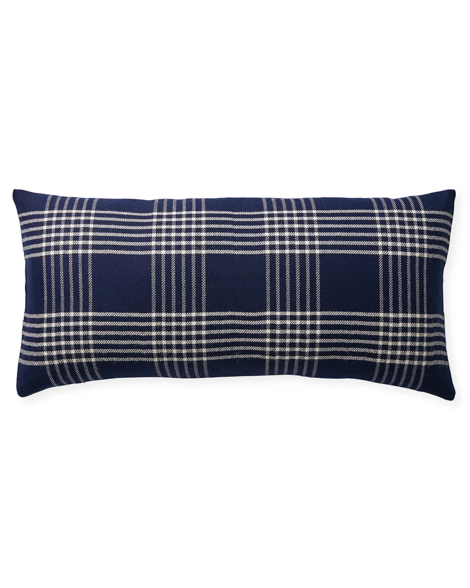 Blakely Plaid Pillow Cover, Midnight/Ivory