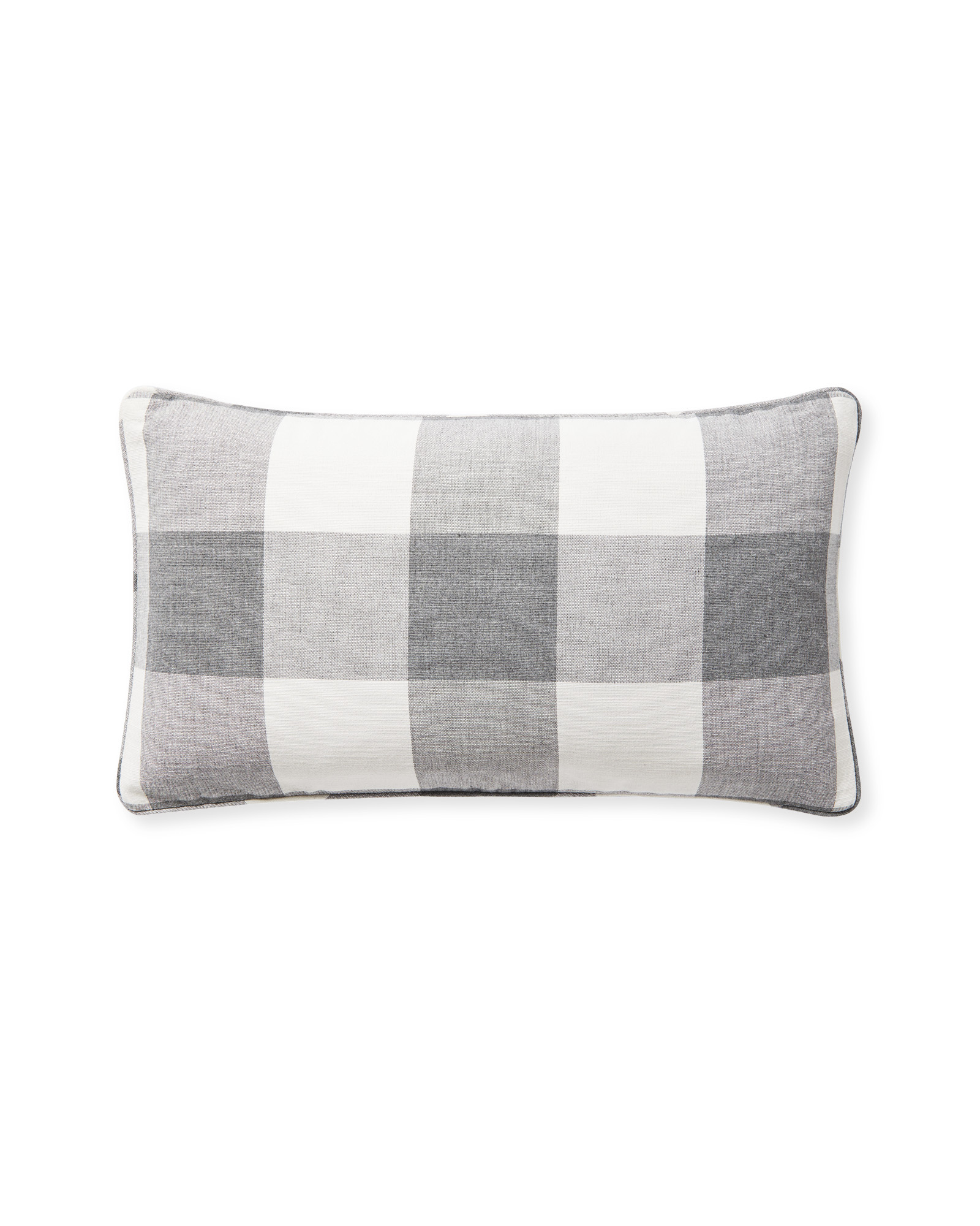Perennials® Gingham Pillow Cover, Smoke