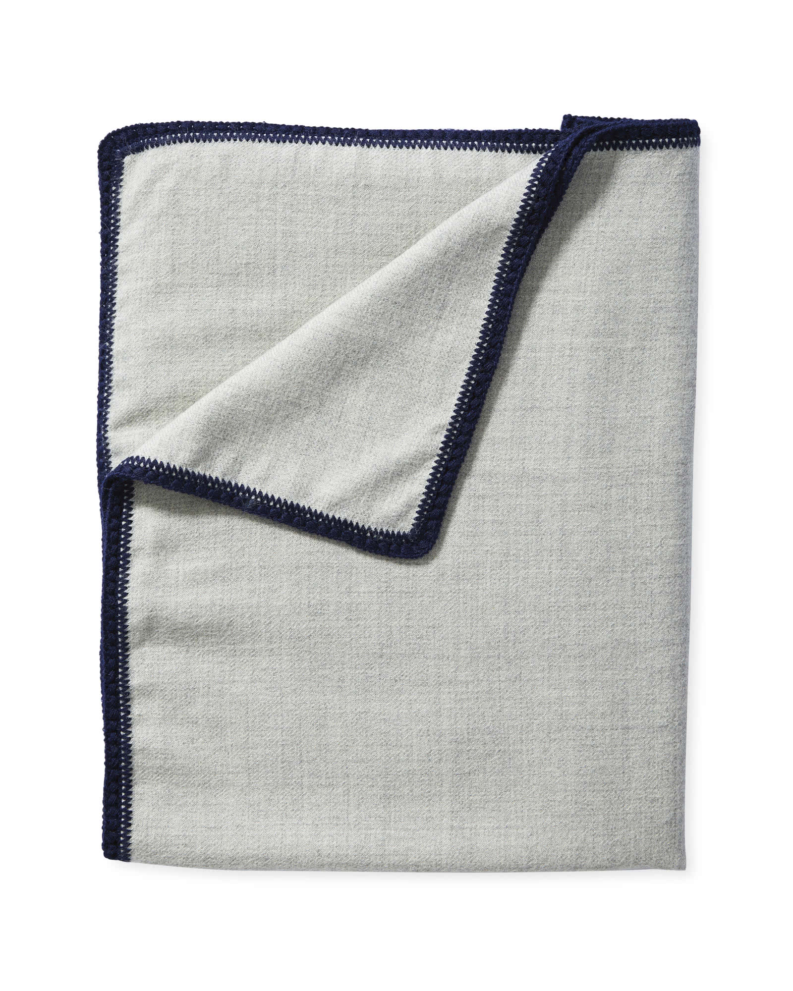 Summit Mini Blanket, Grey/Navy