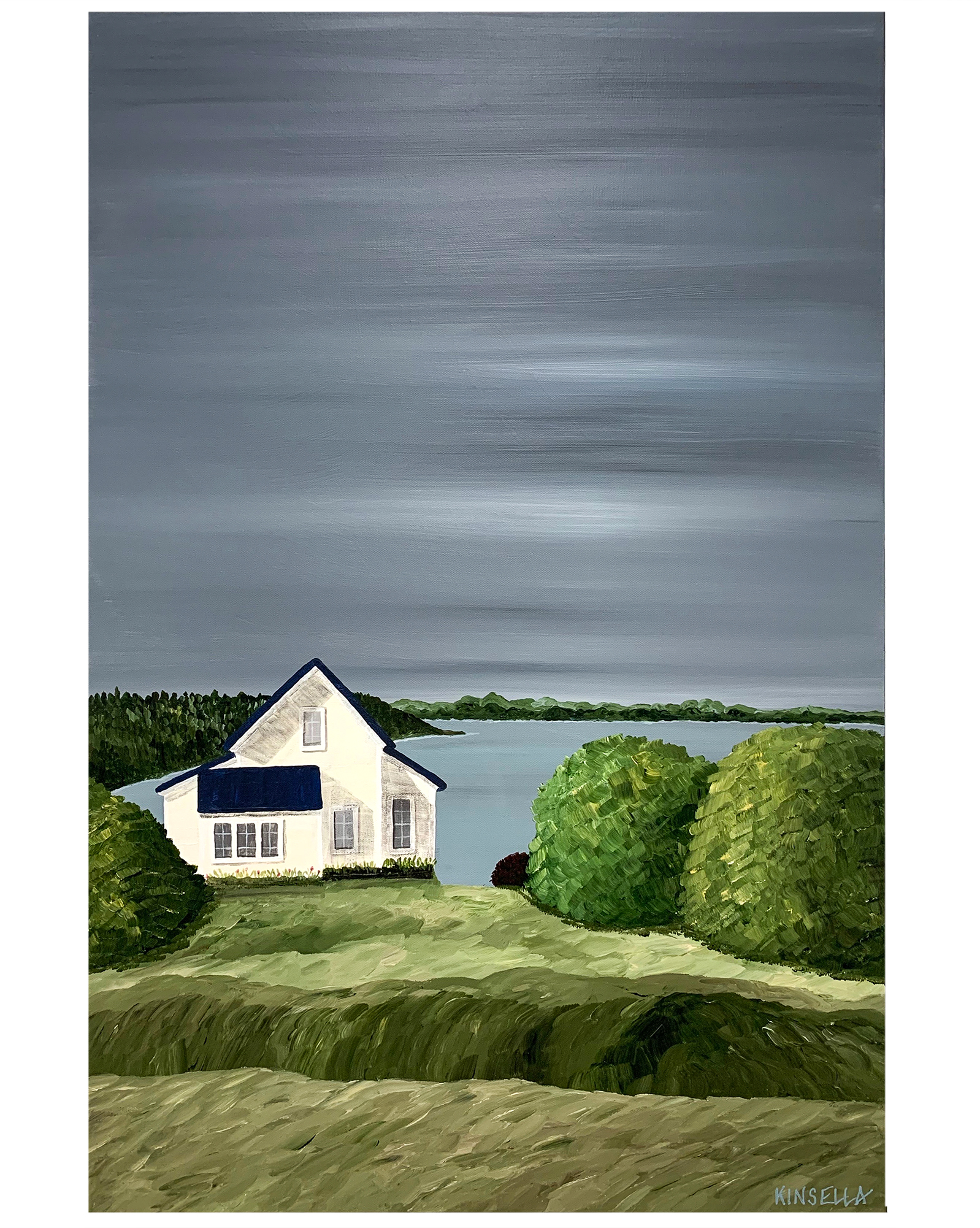 """""""Cottage on Quiet Lake"""" by Susan Kinsella,"""