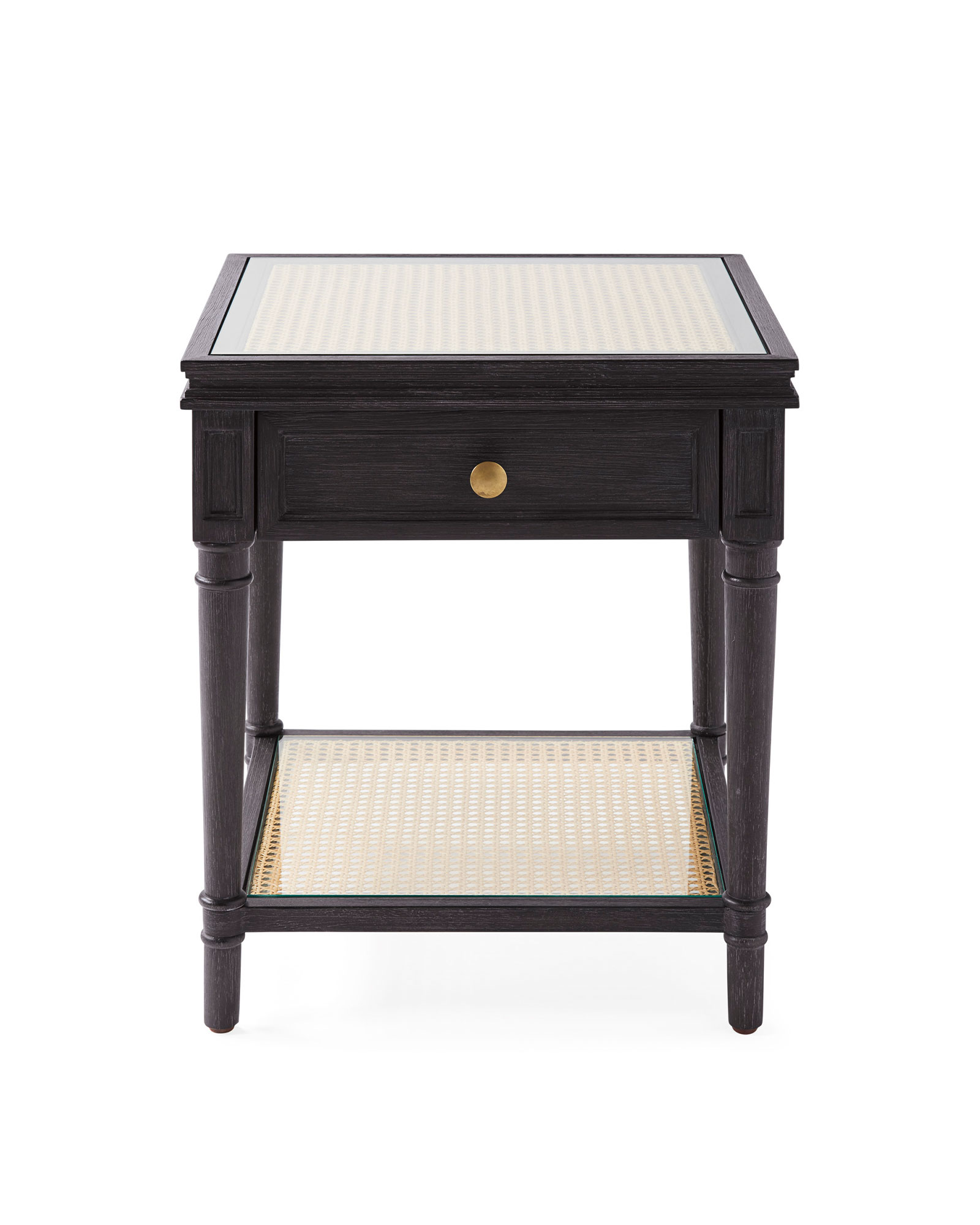 Harbour Cane Nightstand, Ebony