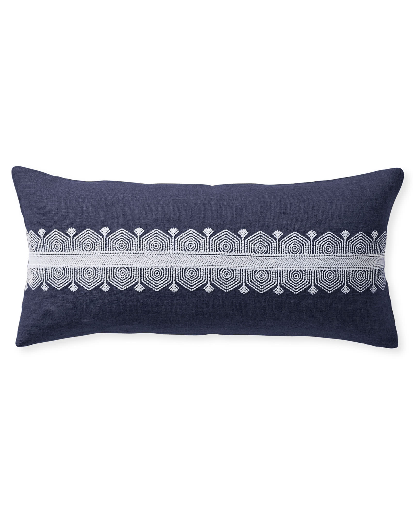 Olympia Pillow Cover, Navy