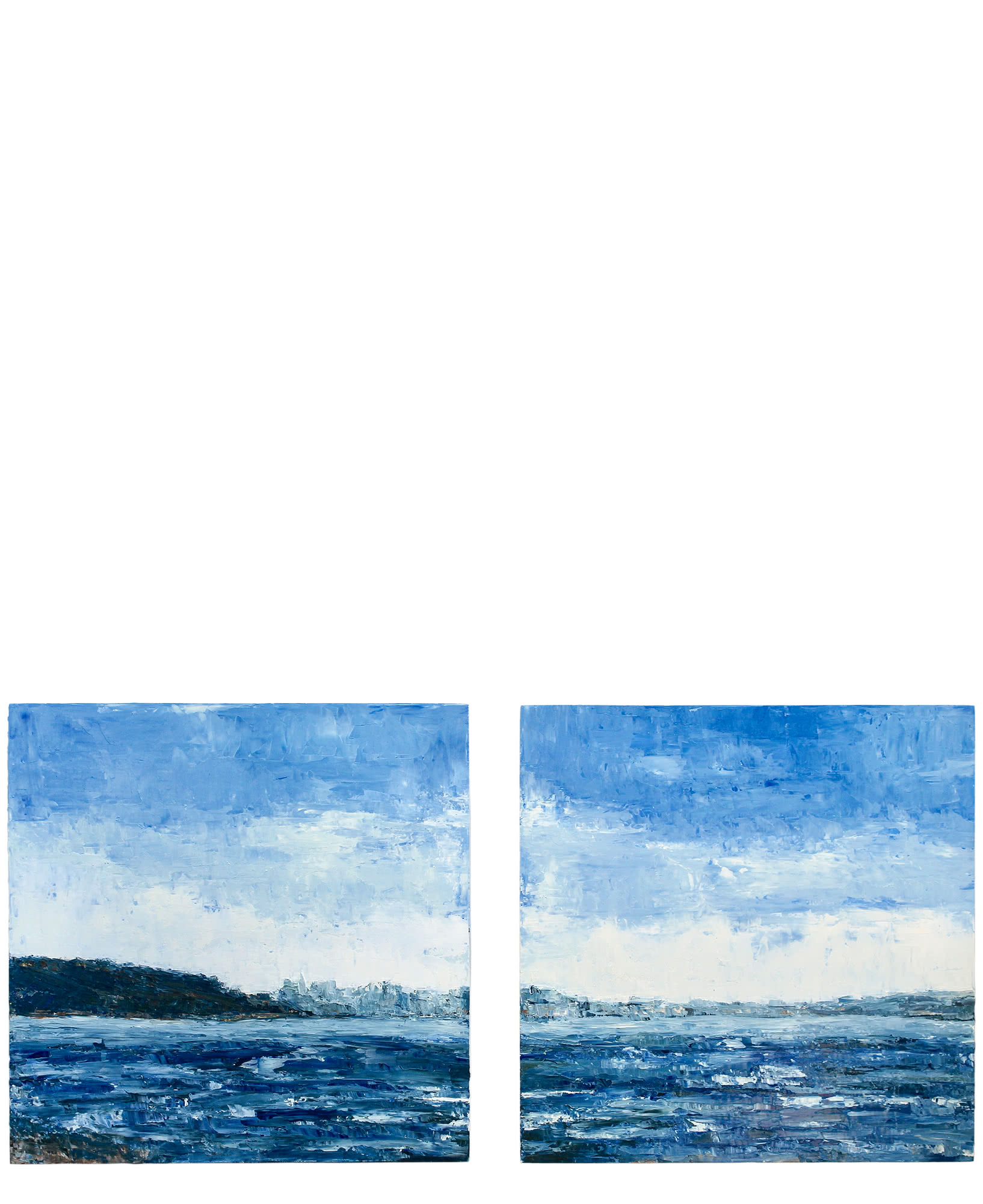 """""""Racoon Strait, Diptych"""" by Kenna Norris,"""