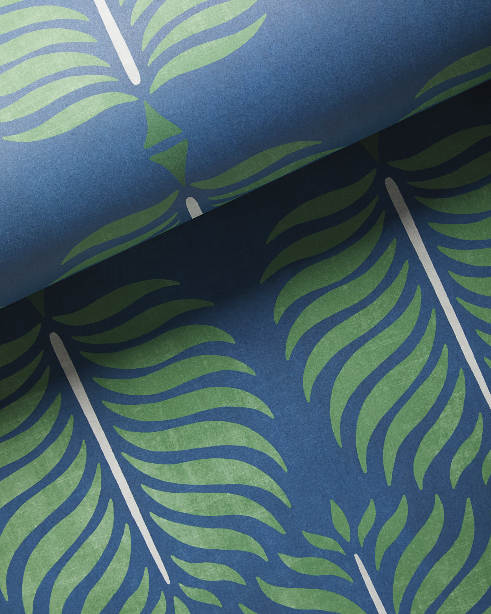 Granada Wallpaper, Navy/Green