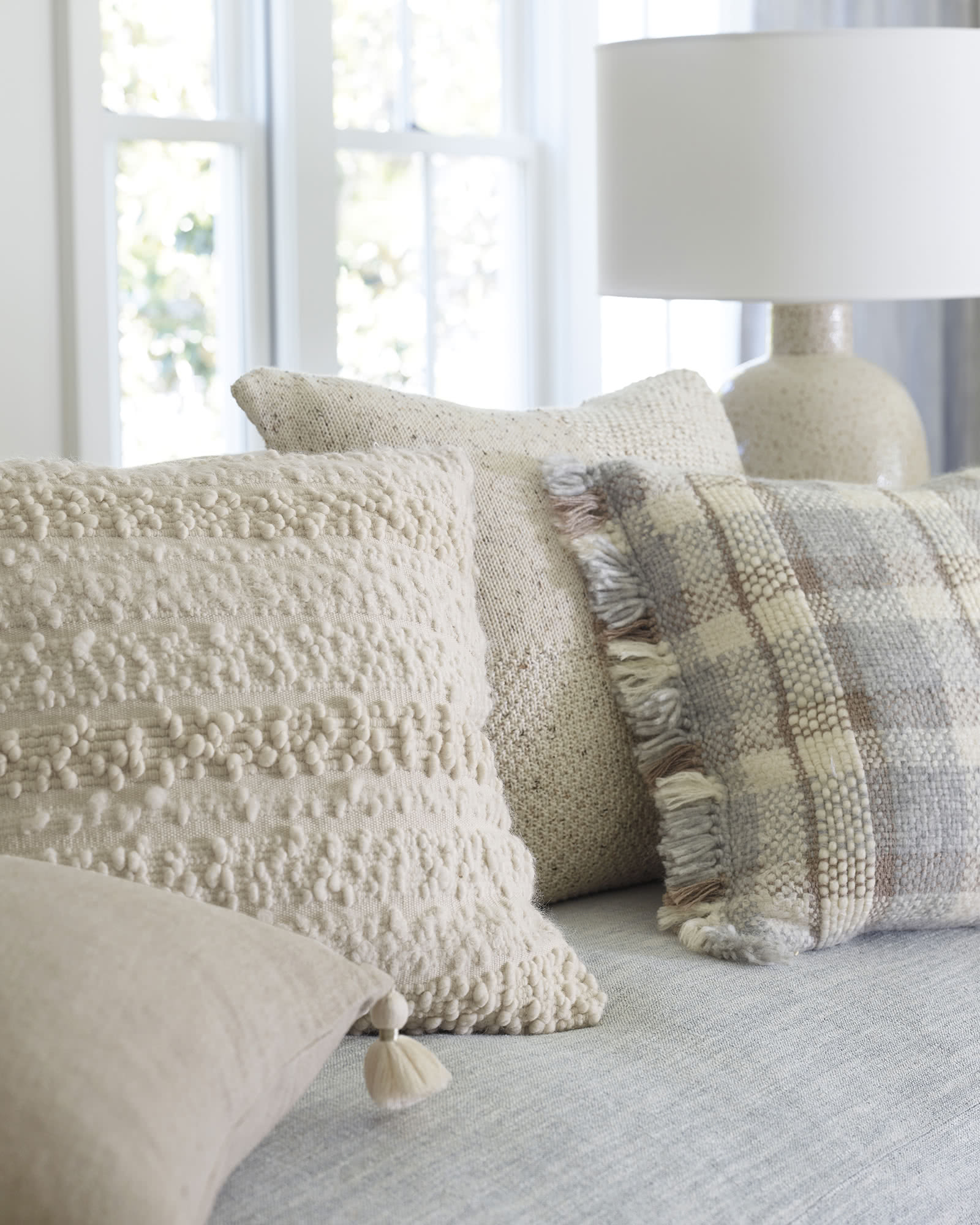 Greenport Pillow Cover, Ivory