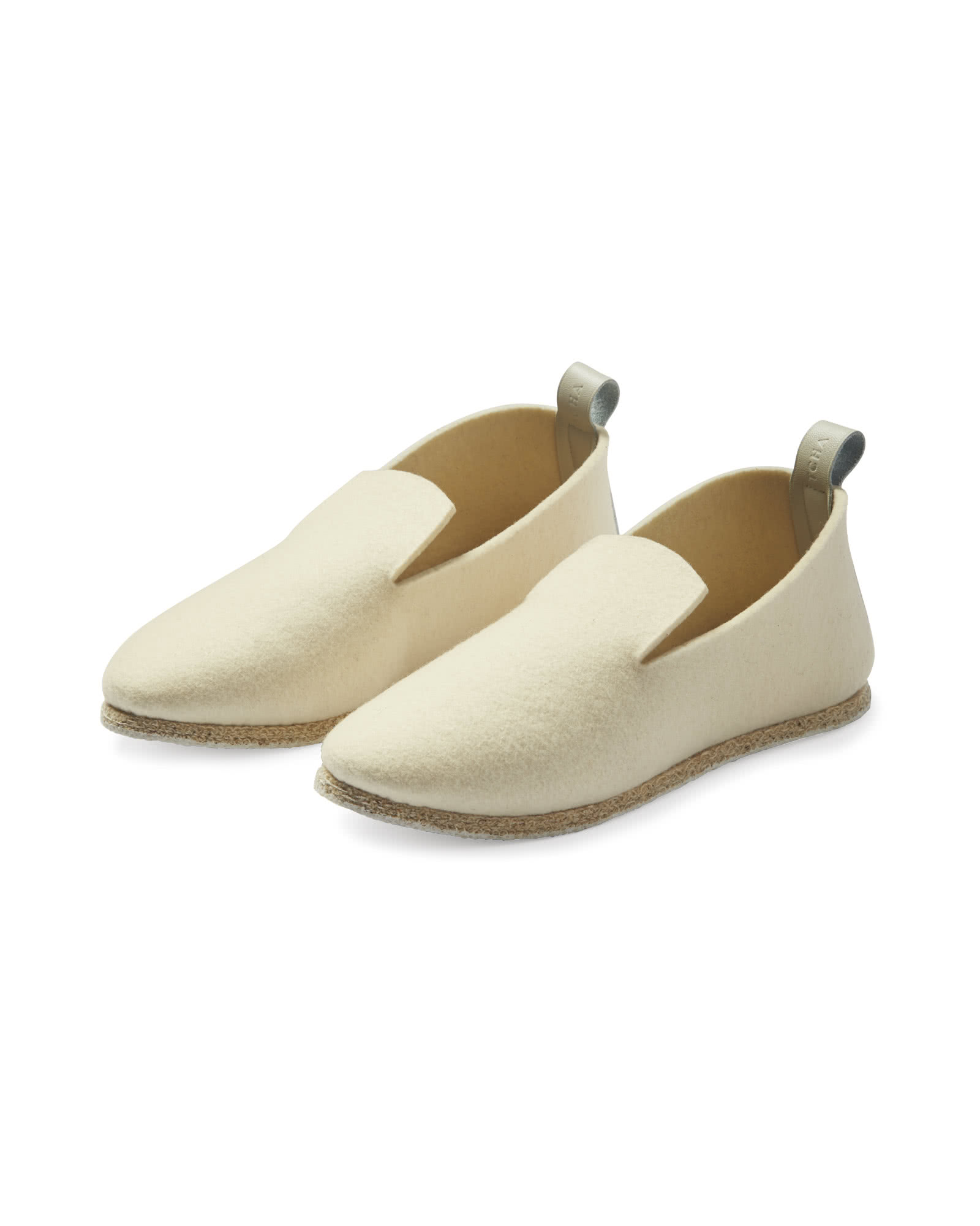 French Felt Slippers, Cream