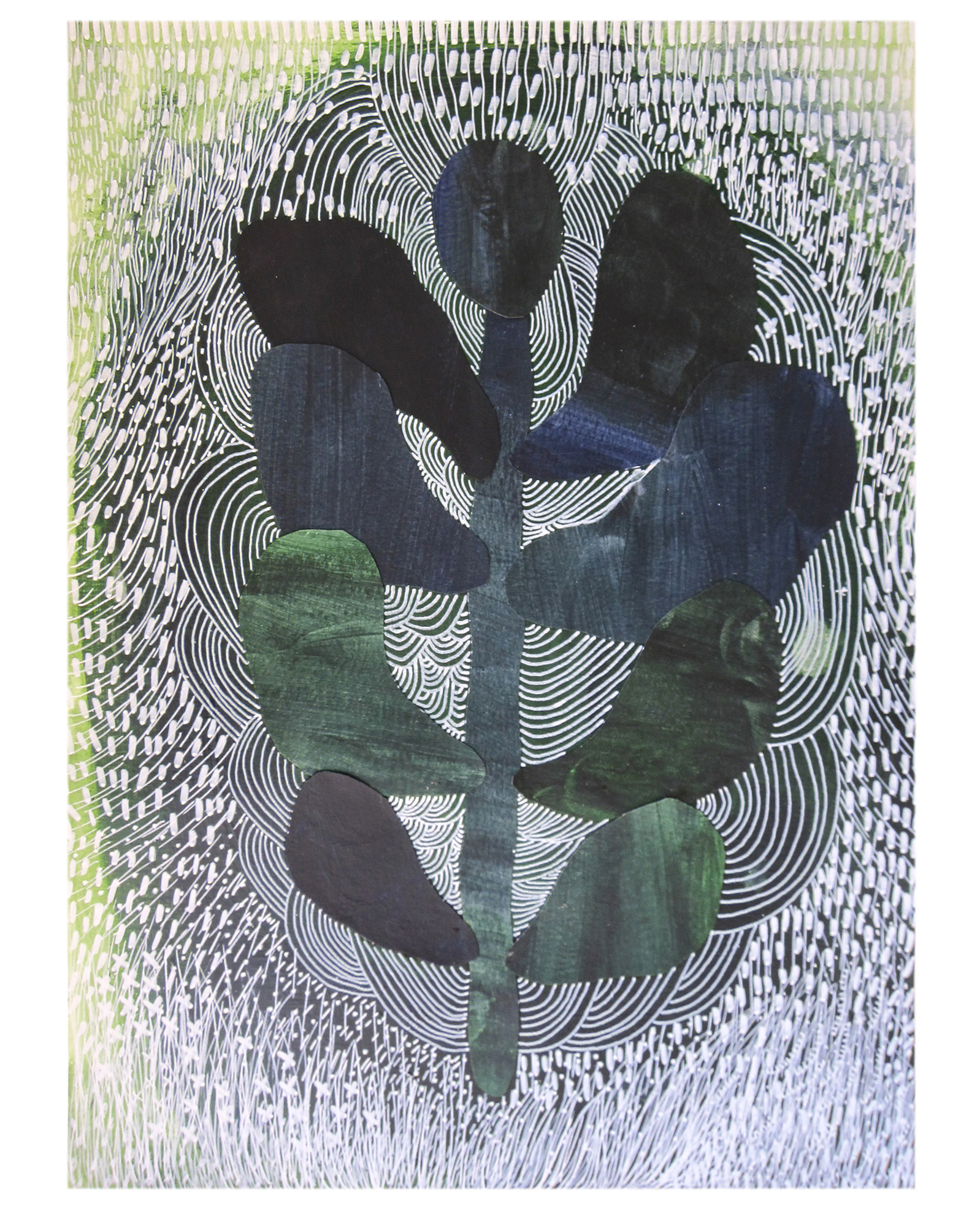 """""""Night plants II"""" by Ruth Le Roux ,"""