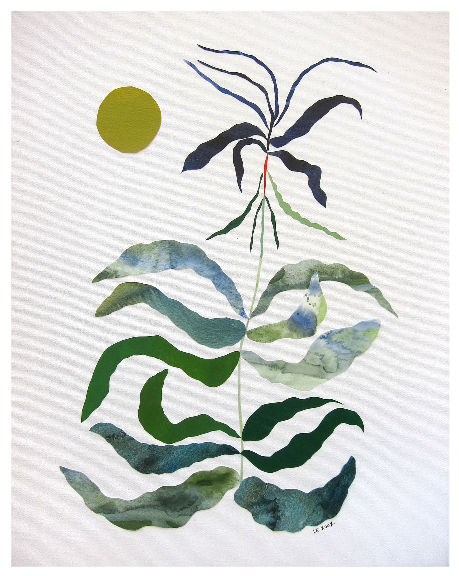"""""""Green moon"""" by Ruth Le Roux ,"""