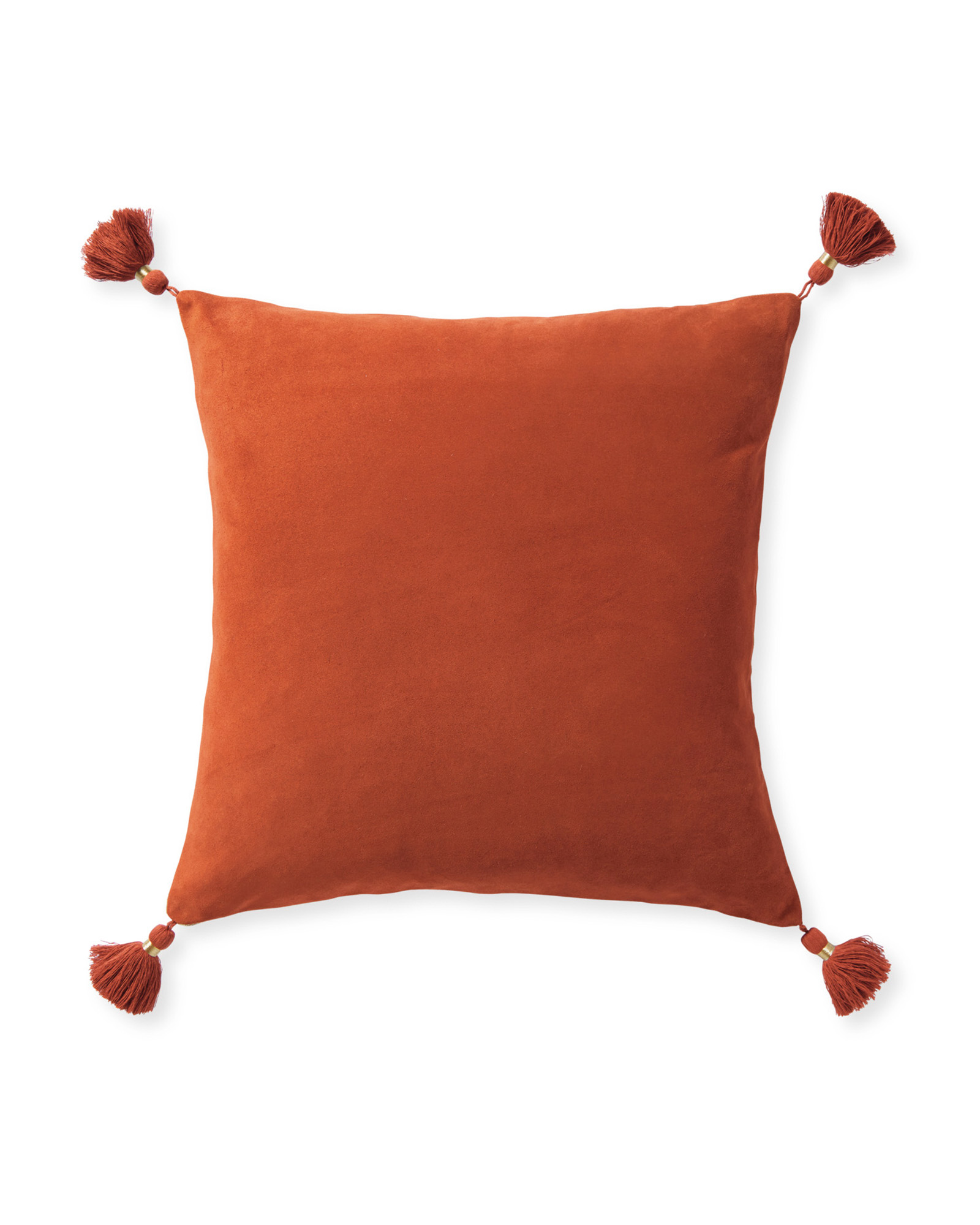 Suede Eva Pillow Cover, Terracotta