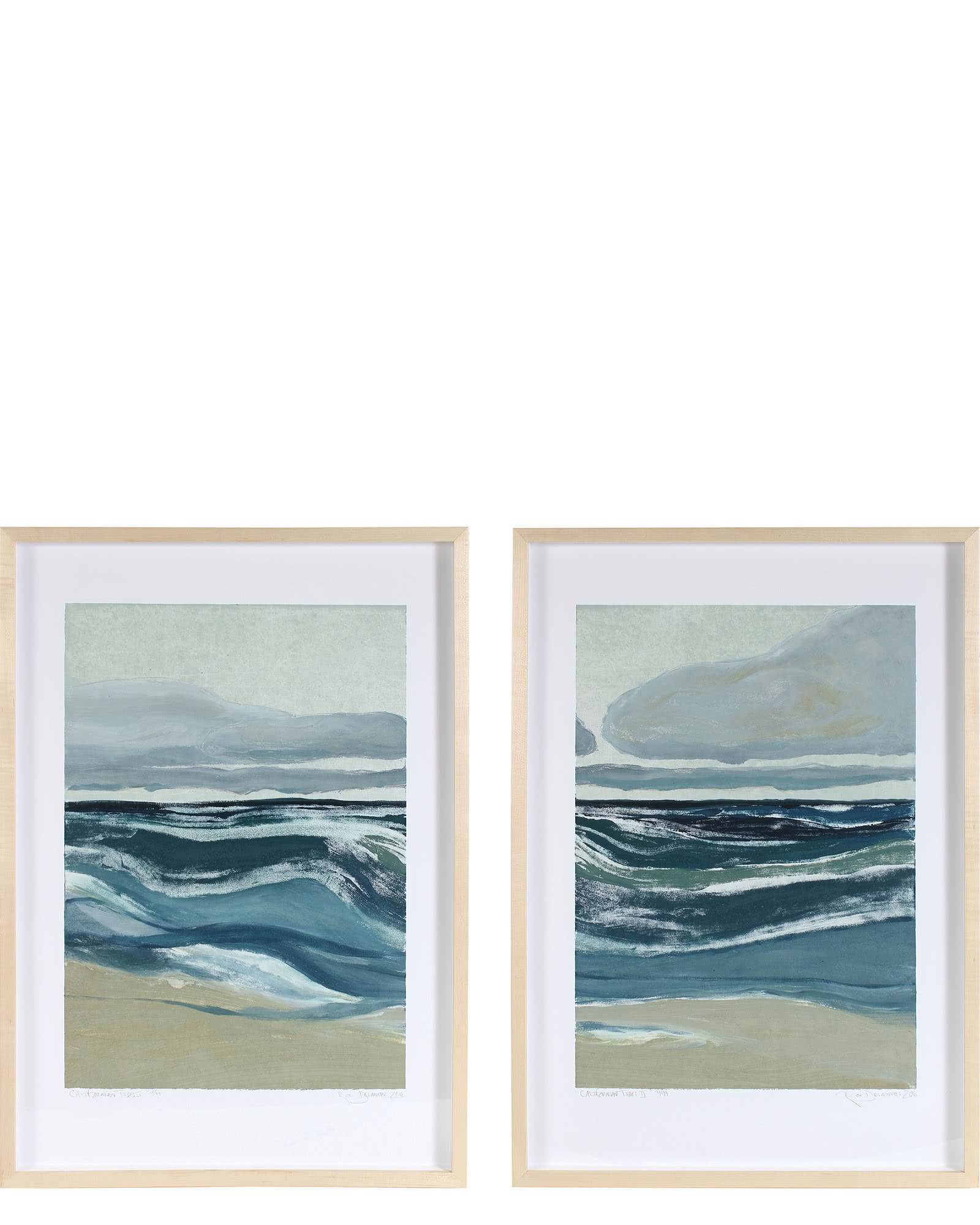 """Californian Tides I & II"" by Rob Delamater,"