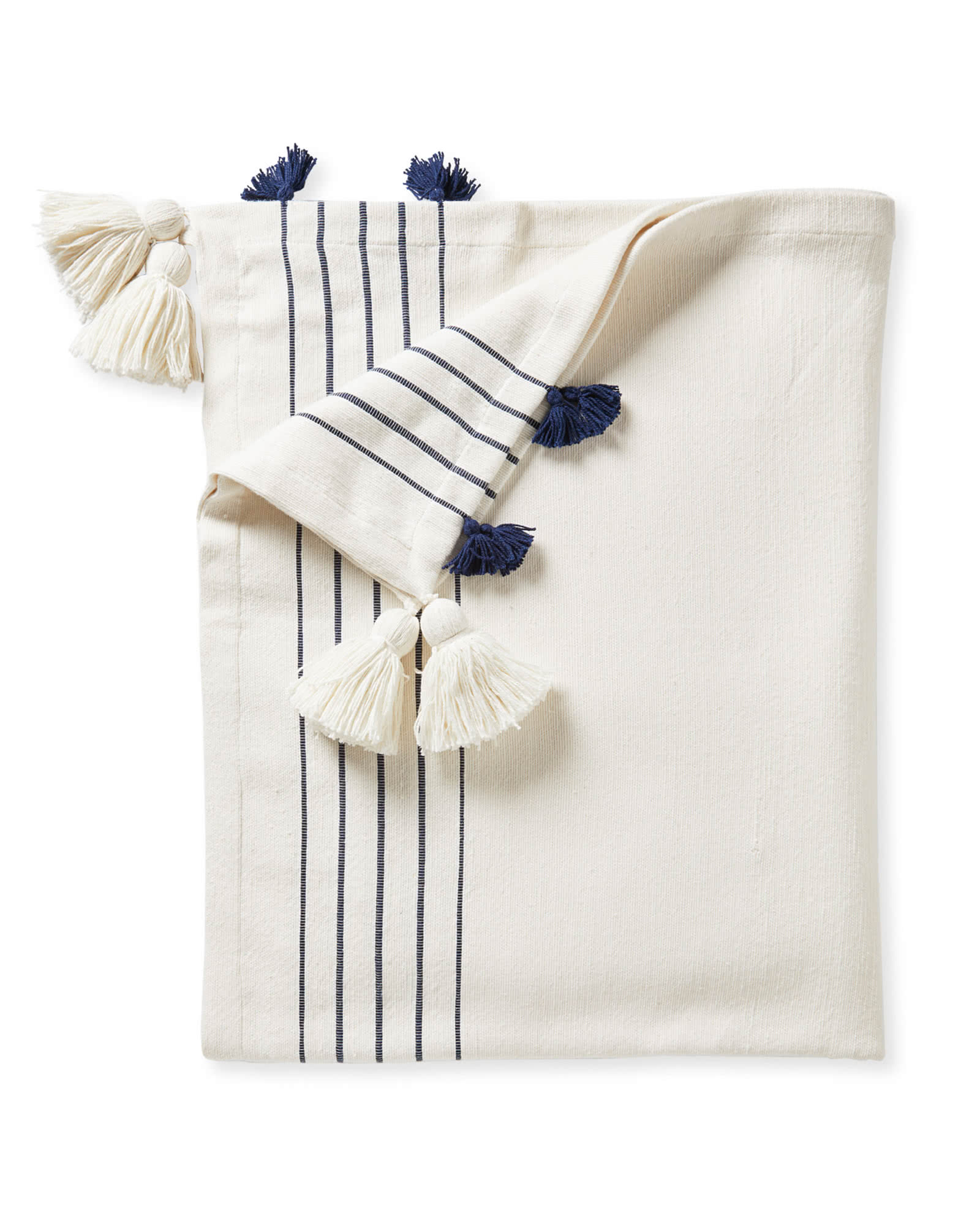 Del Mar Cotton Throw, Navy