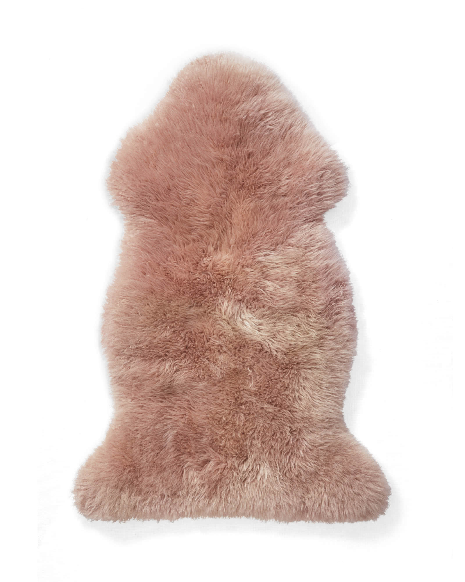 Sheepskin Wool Throw, Pink Sand