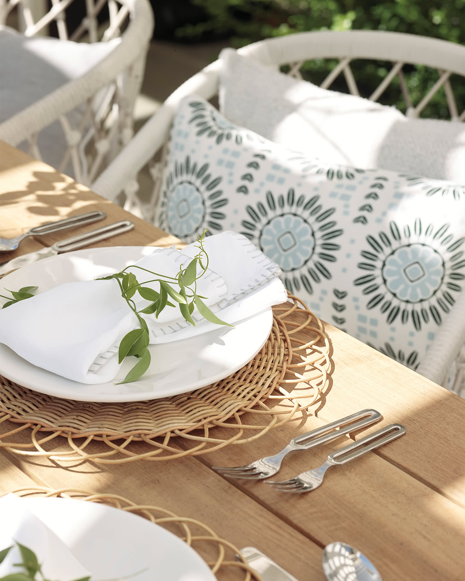 Round Rattan Placemat,
