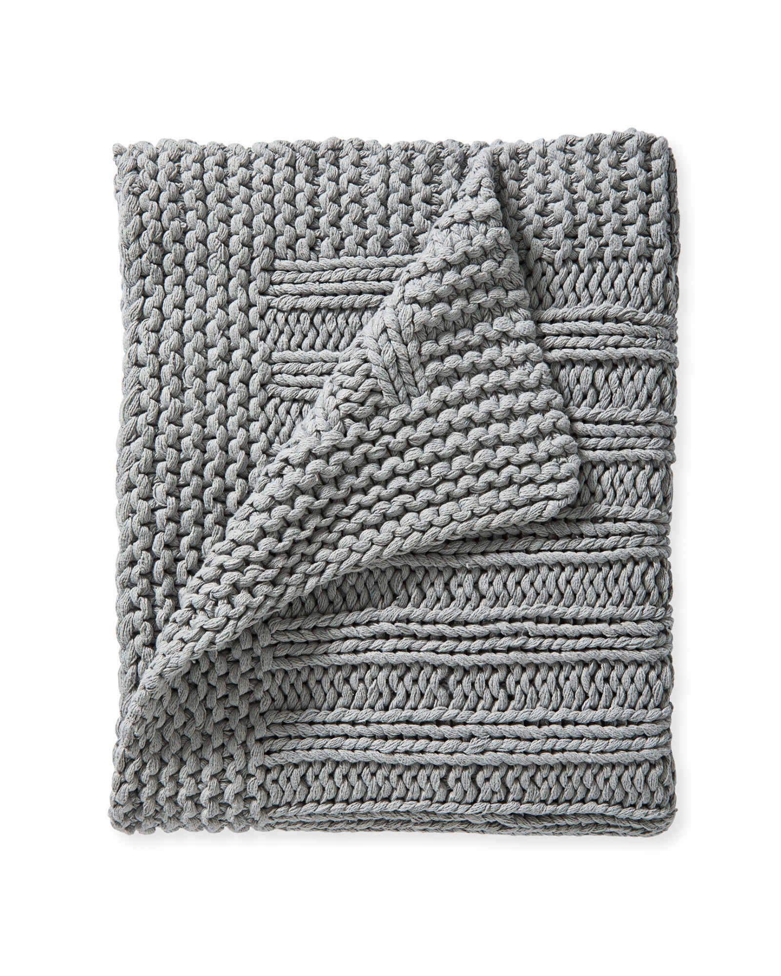 Sequoia Cotton Throw, Smoke