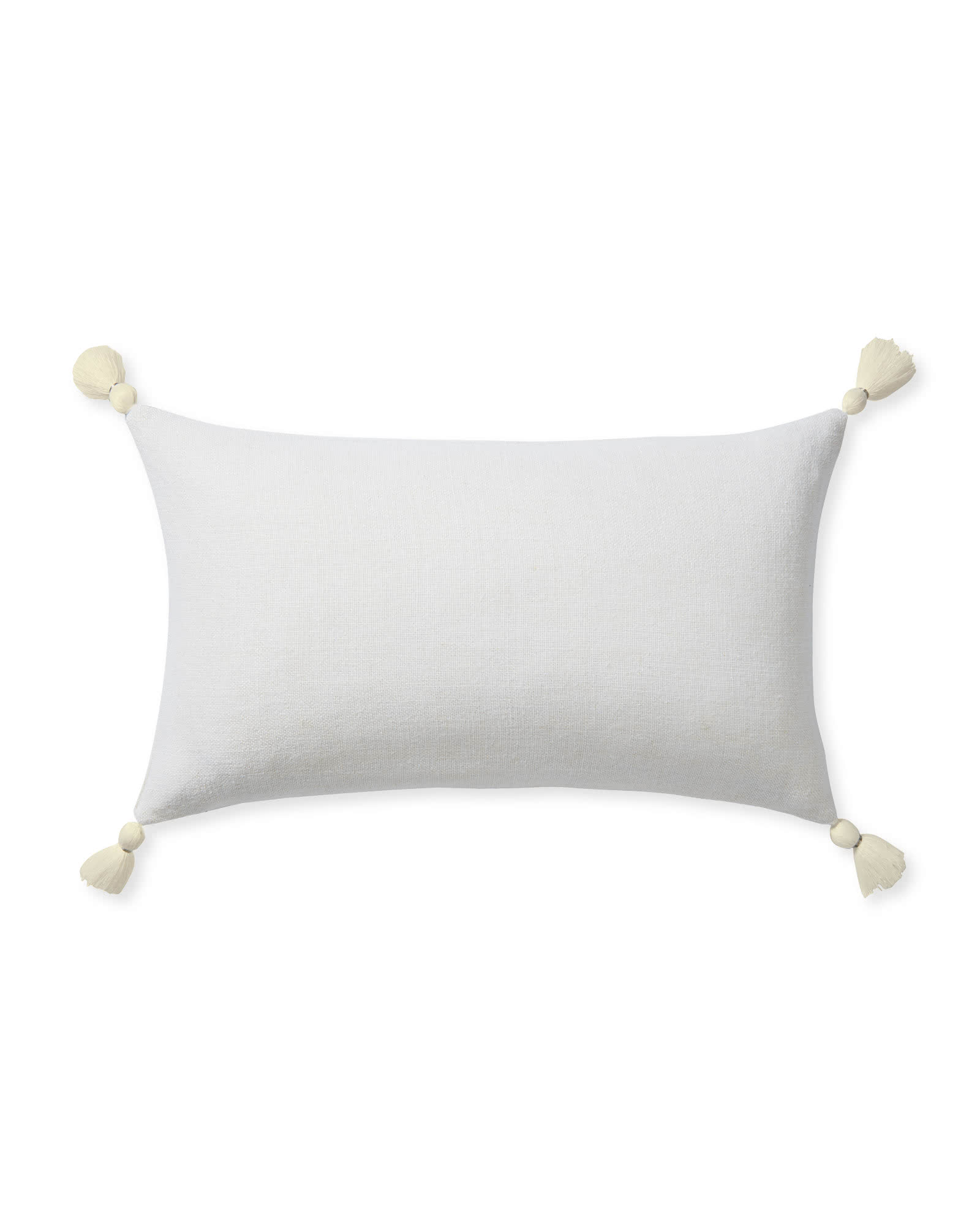Eva Tassel Pillow Cover, White