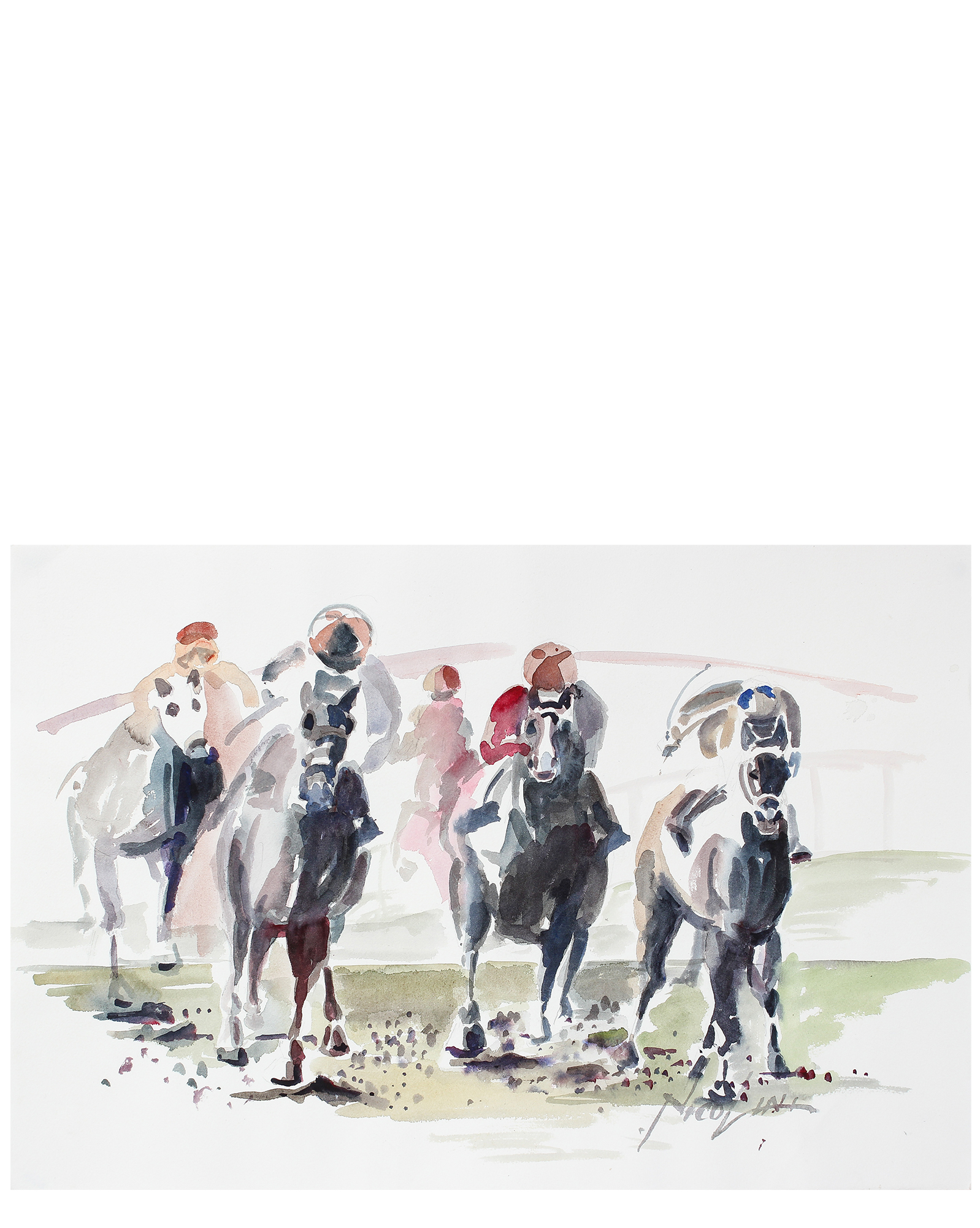 """""""At the Races"""" by John Nicolini,"""