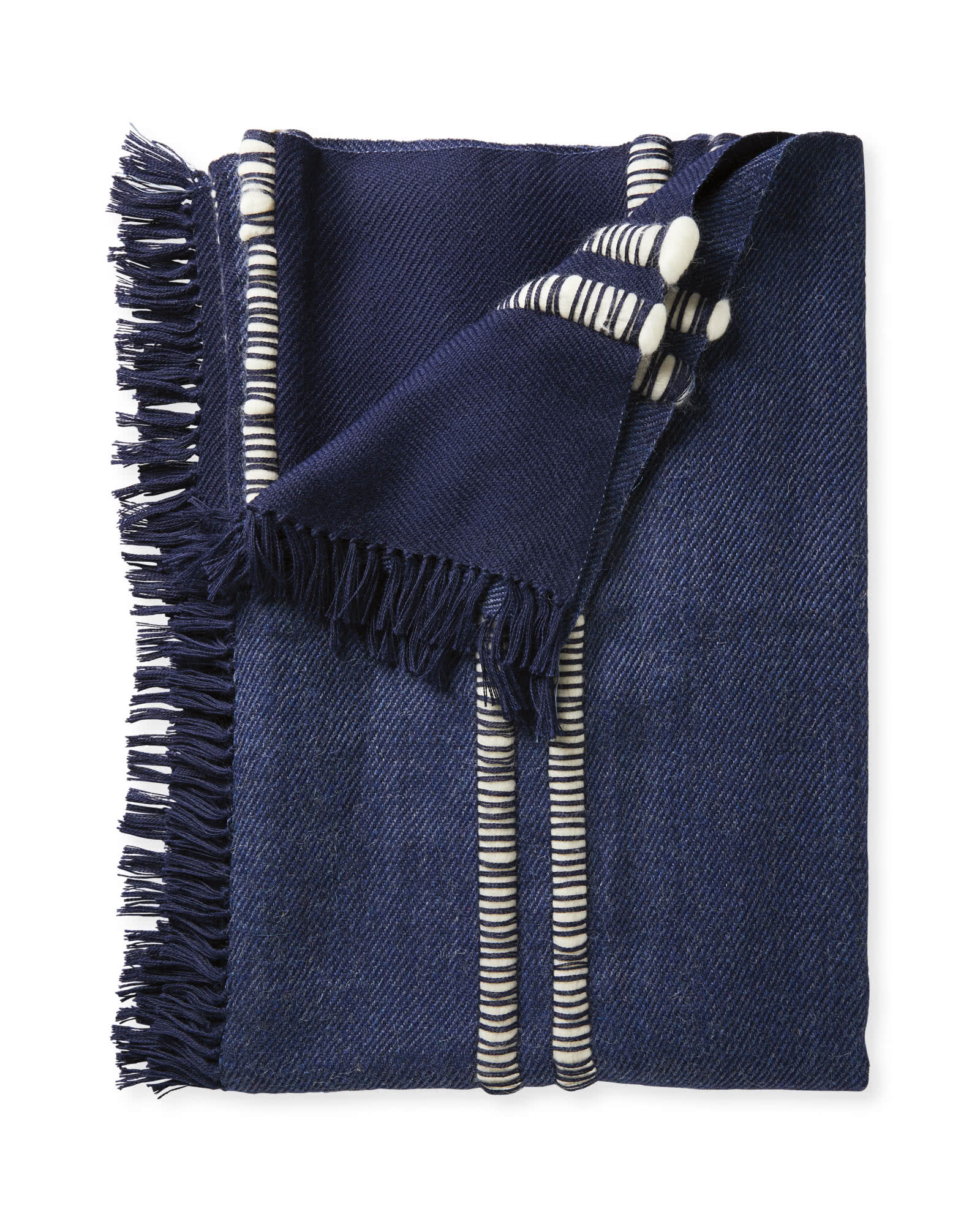Palomino Alpaca Throw, Blue