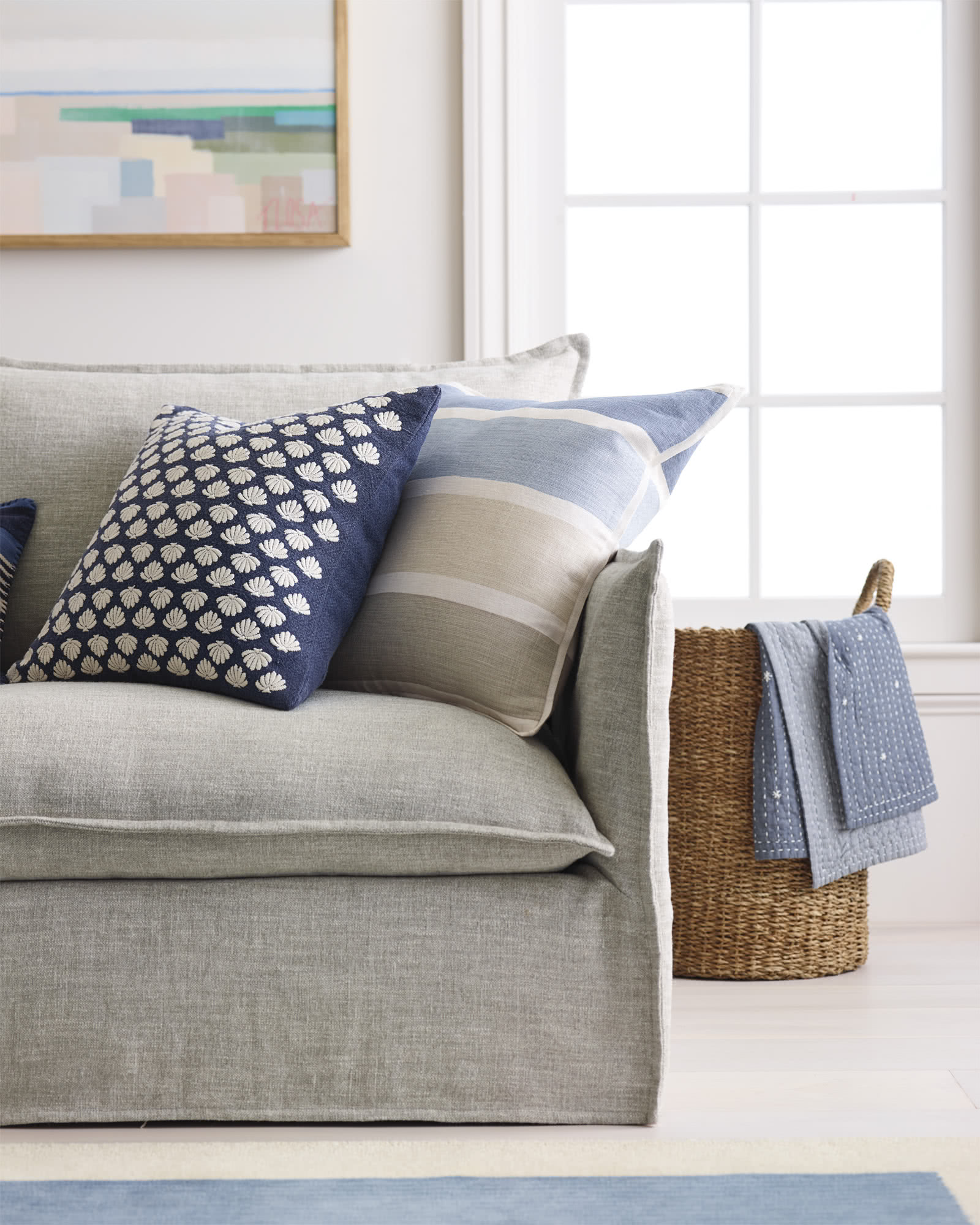 Torrey Pillow Cover, Indigo