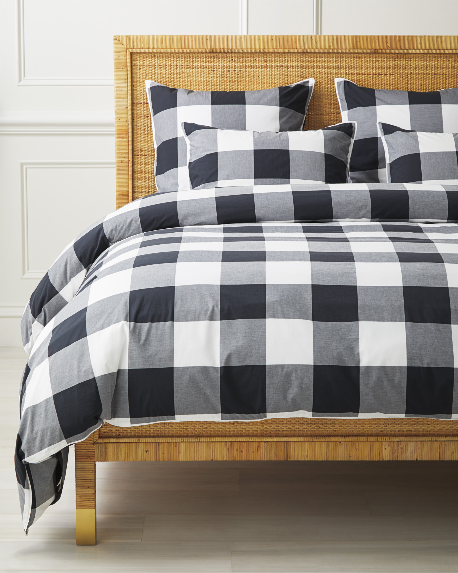 Gingham Duvet Cover, Black