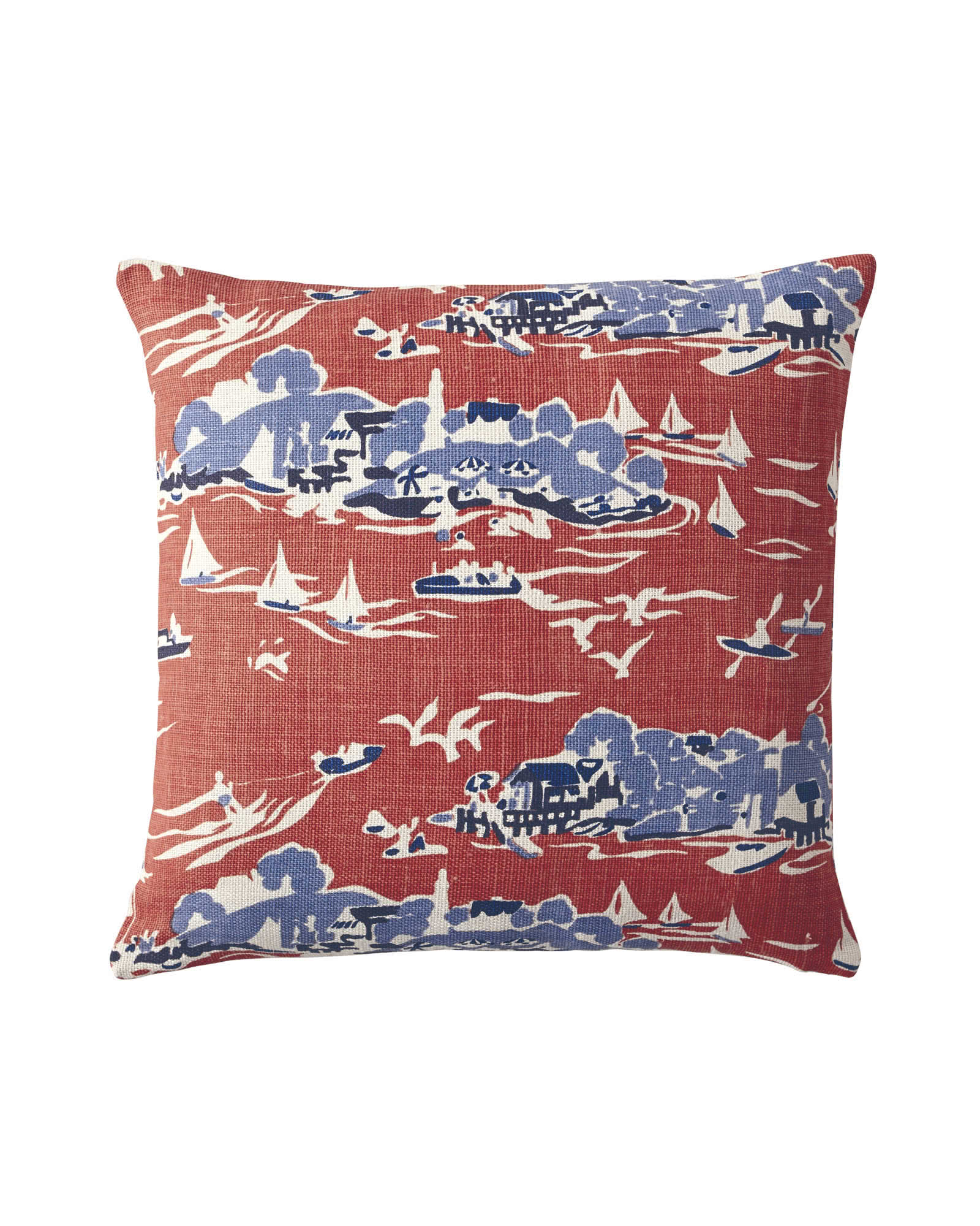 Skylake Toile Pillow Covers, Tomato Red
