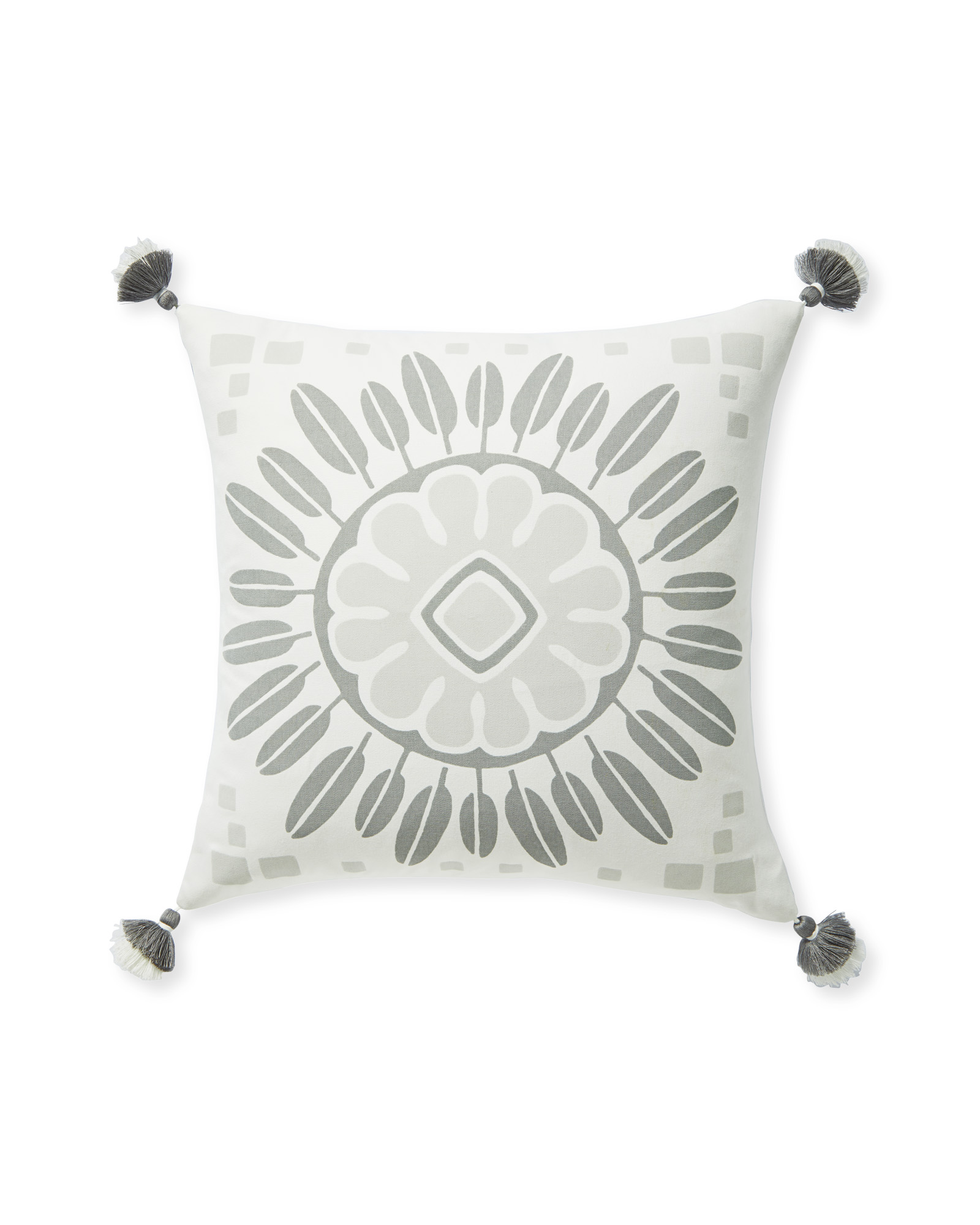 Campania Medallion Pillow Cover, Grey