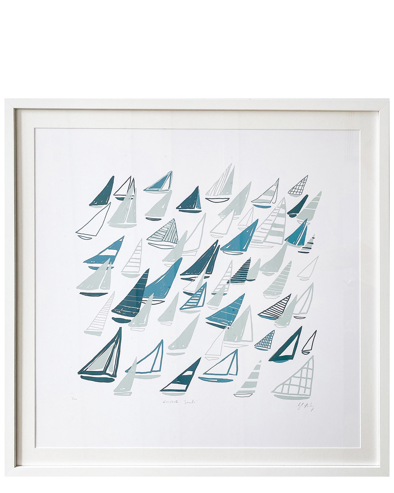 """""""Coastal Sails"""" by Blakely Made,"""