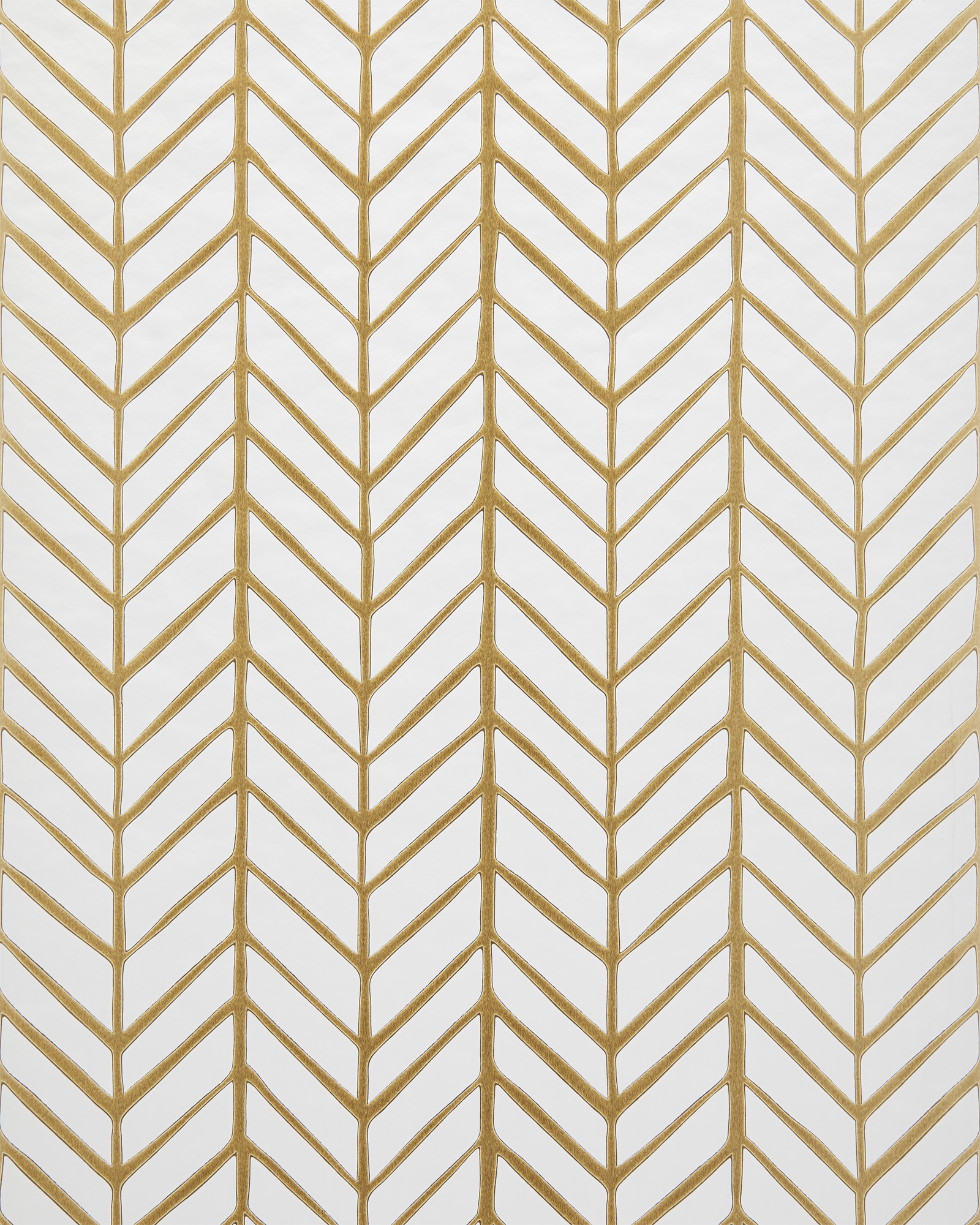 Feather Wallpaper Swatch - Gold,