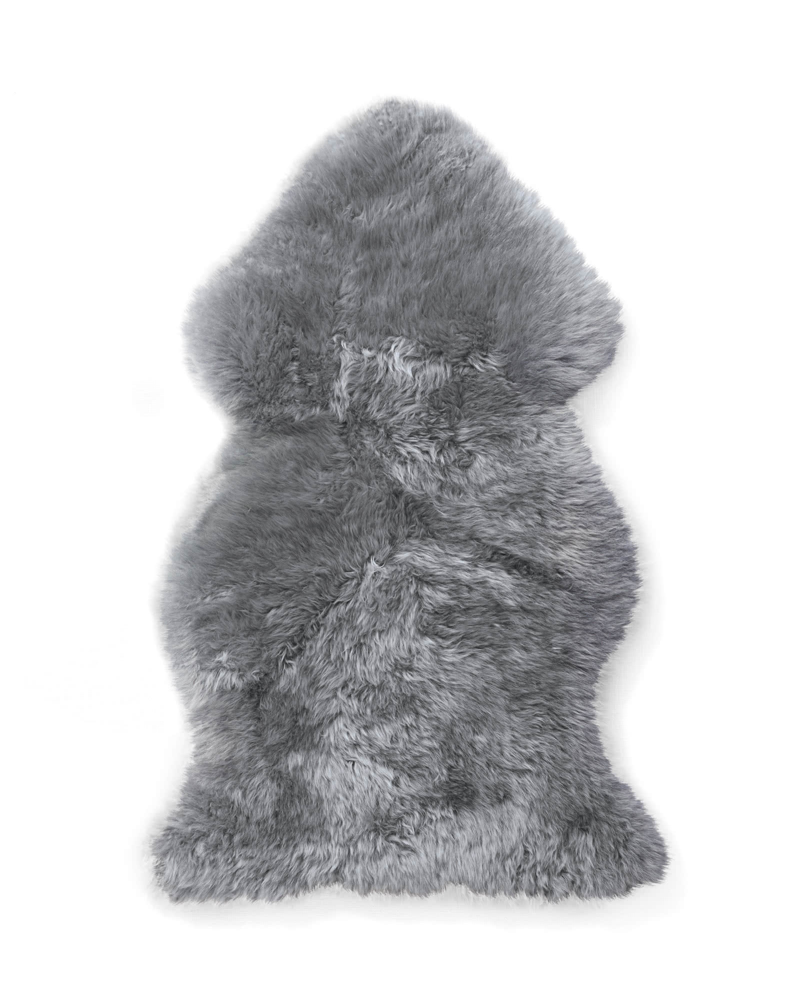 Sheepskin Wool Throw, Fog