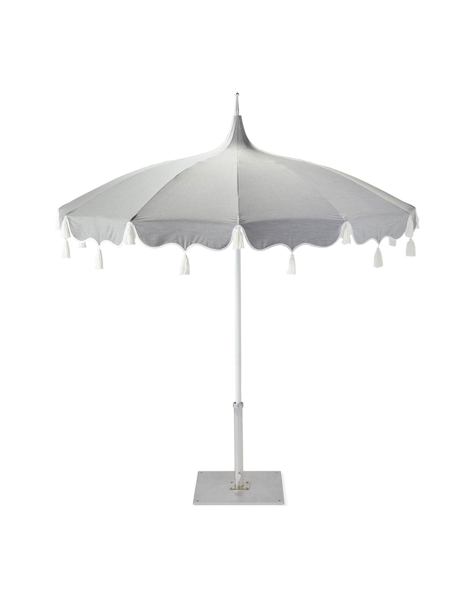 Alicante Tassel Umbrella, Sunbrella Granite