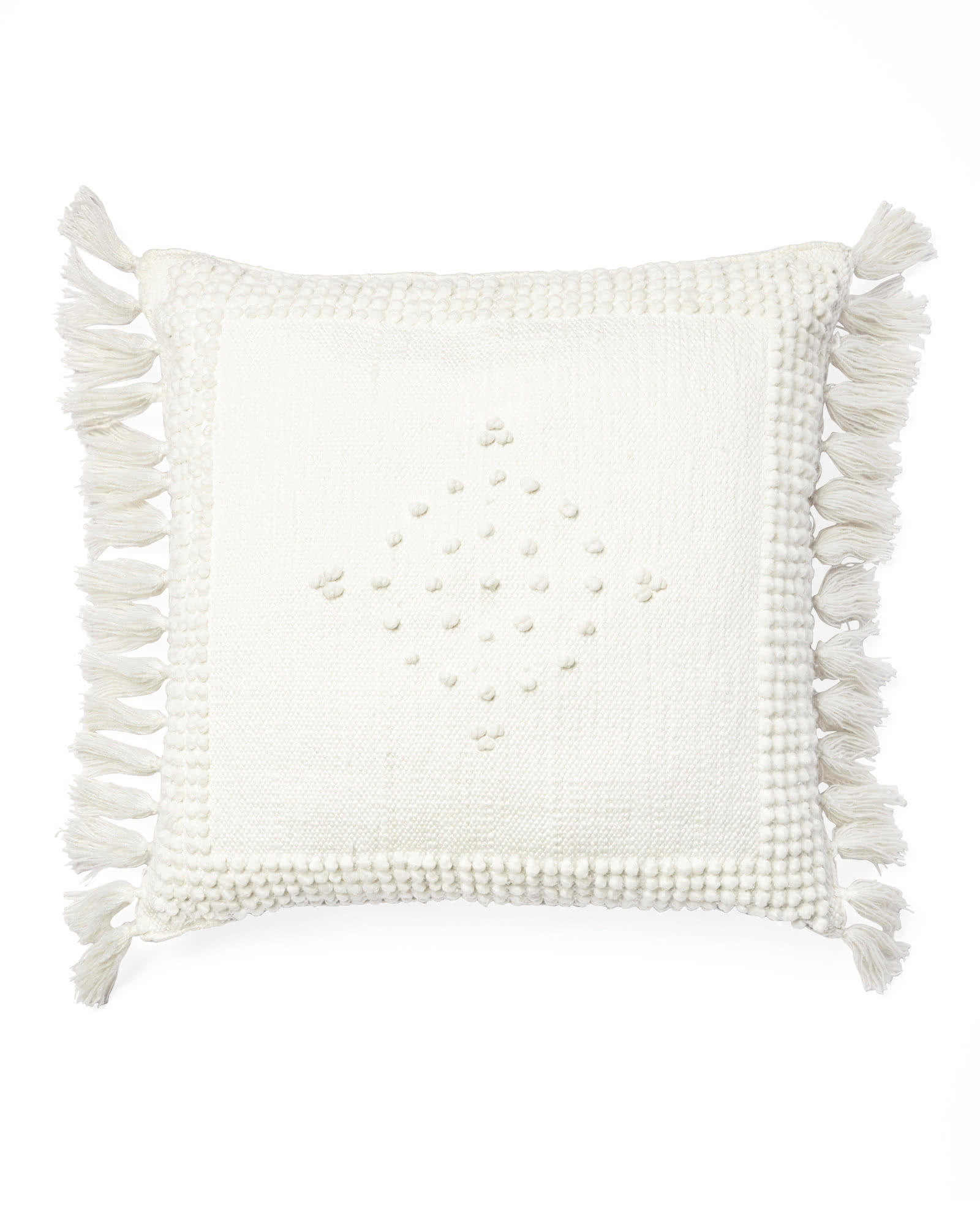 Montecito Outdoor Pillow Cover, Ivory