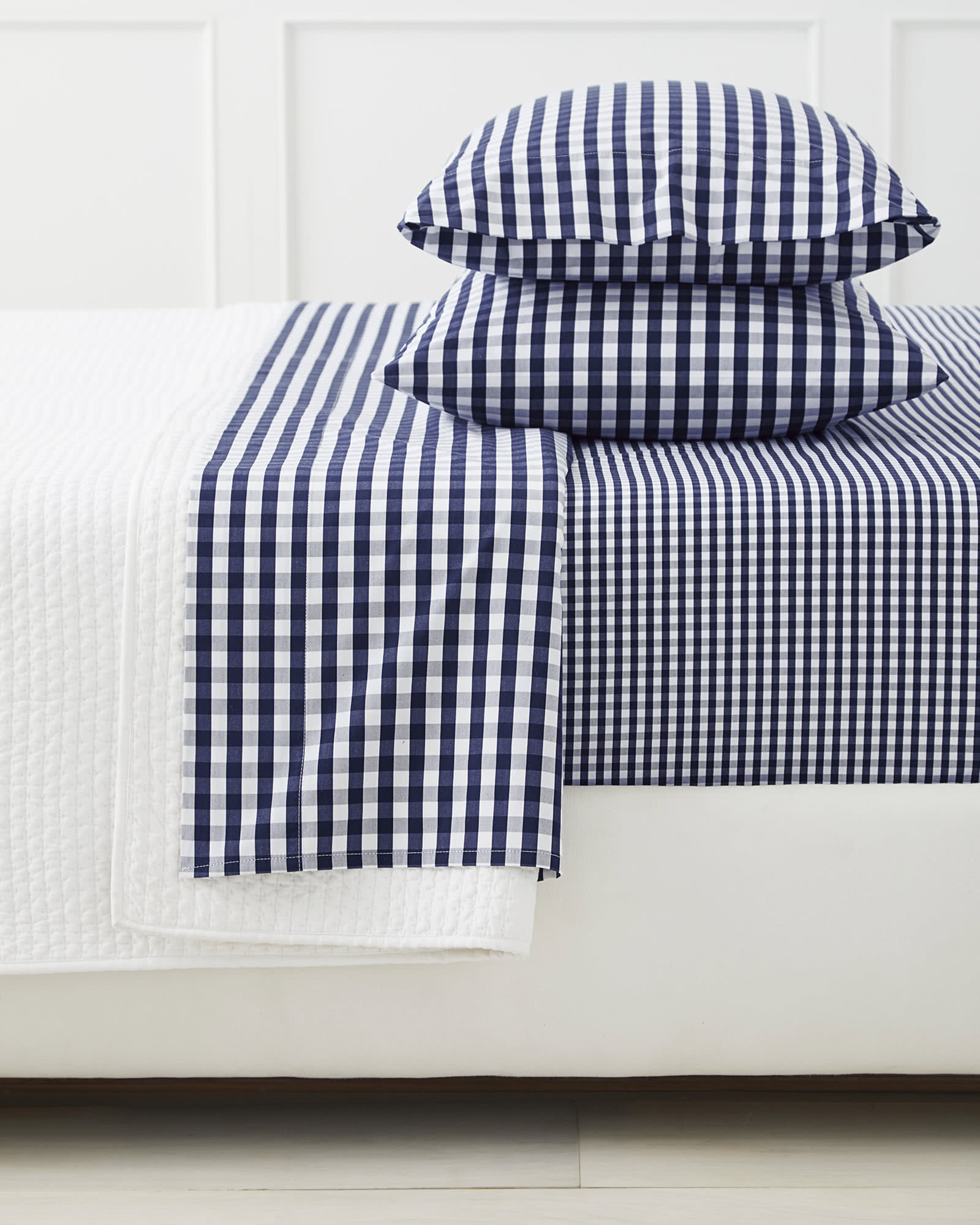 Gingham Sheet Set, Midnight