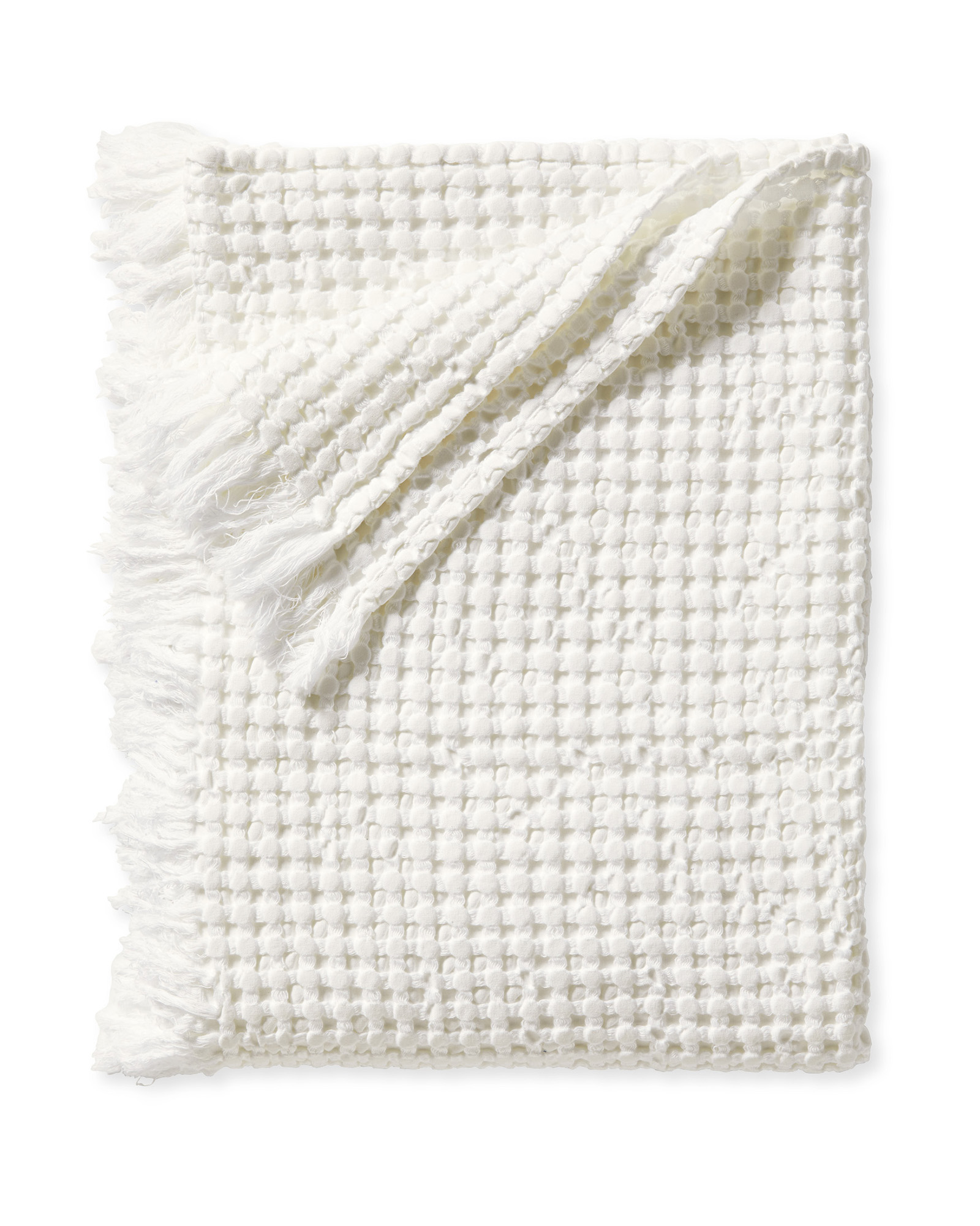 Beachcomber Cotton Throw, White
