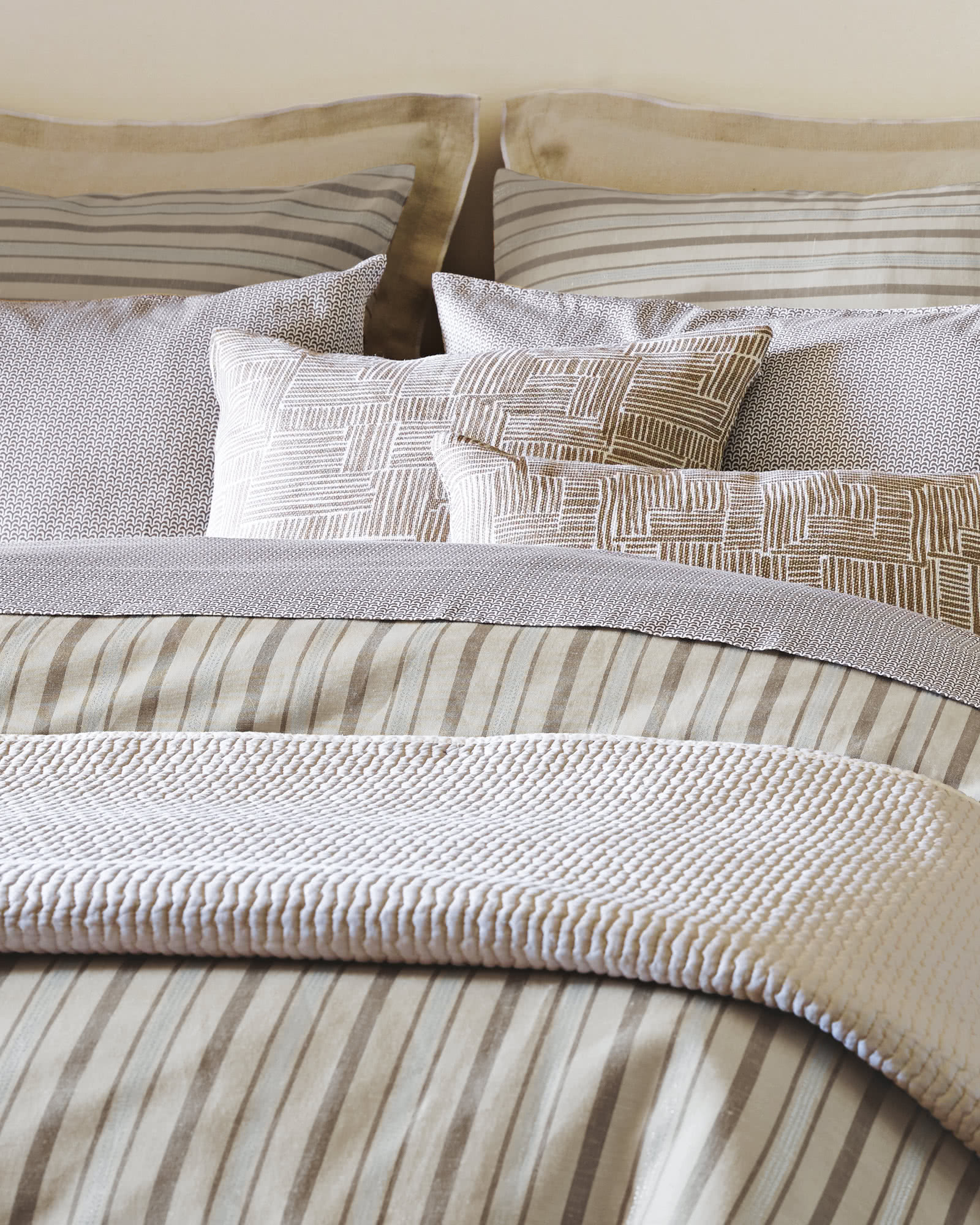 Metallic Stripe Duvet Cover,