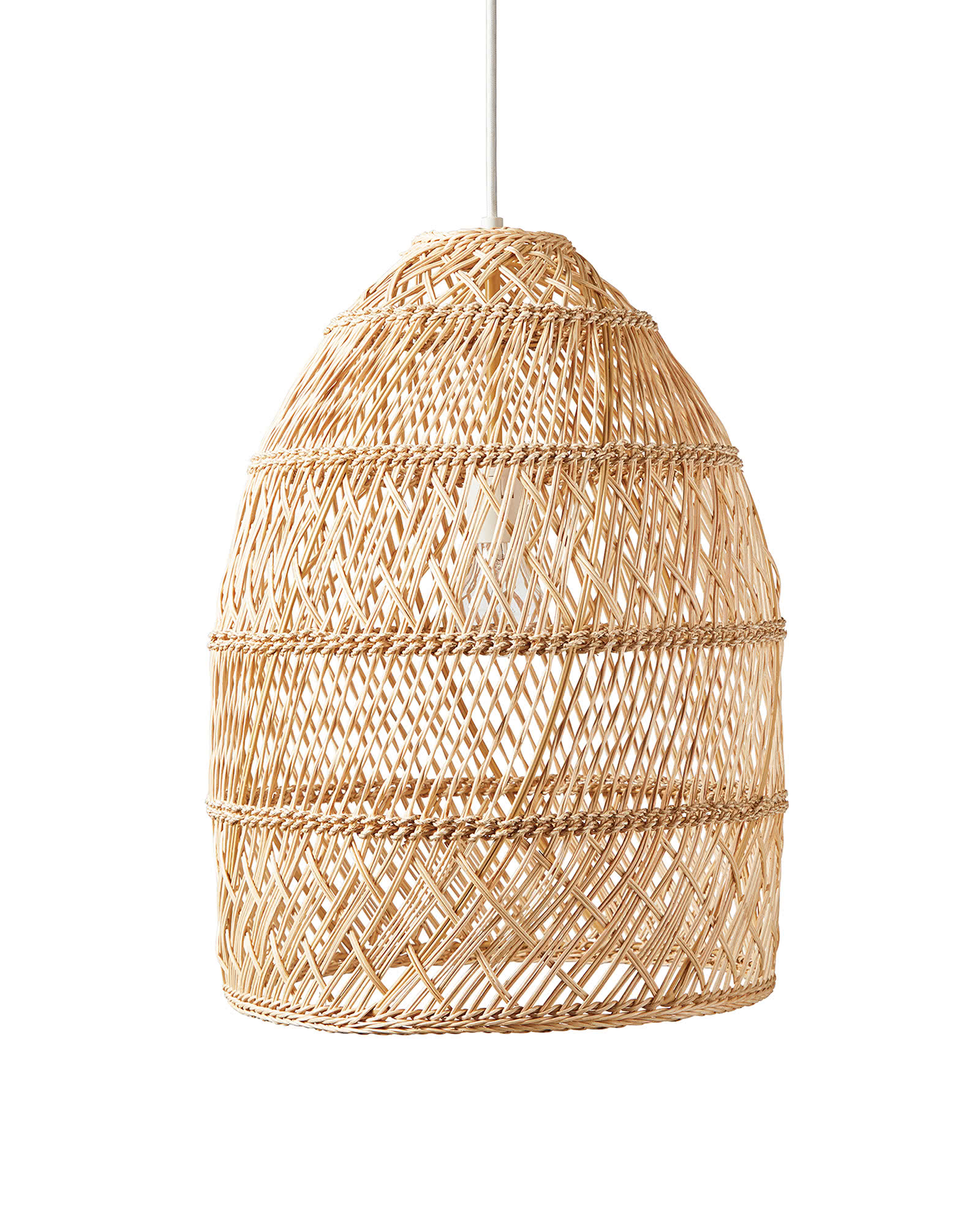 Wicker bell pendant (Headlands) from Serena & Lily