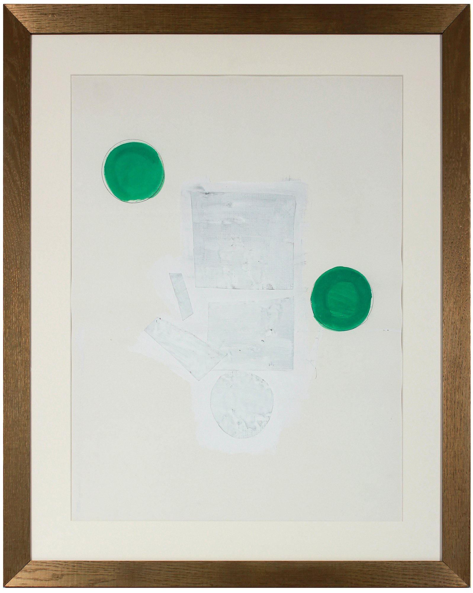 """Abstracted Green & White Collage"" by Gary L. Shaffer,"