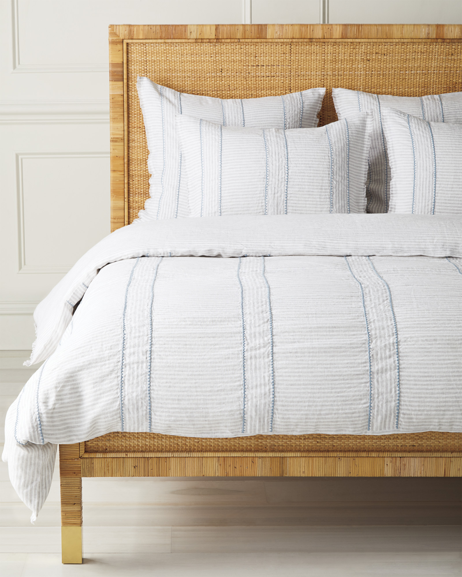 Stone Harbor Duvet Cover, Fog