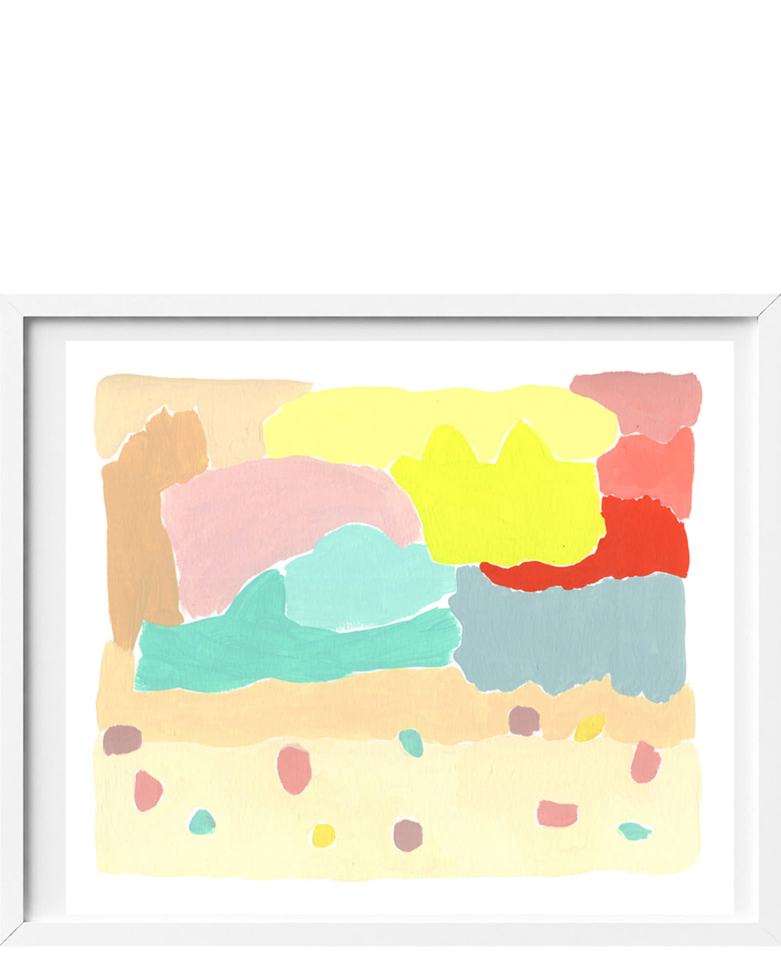 """Beach Painting"" by Erica Kane Fink,"
