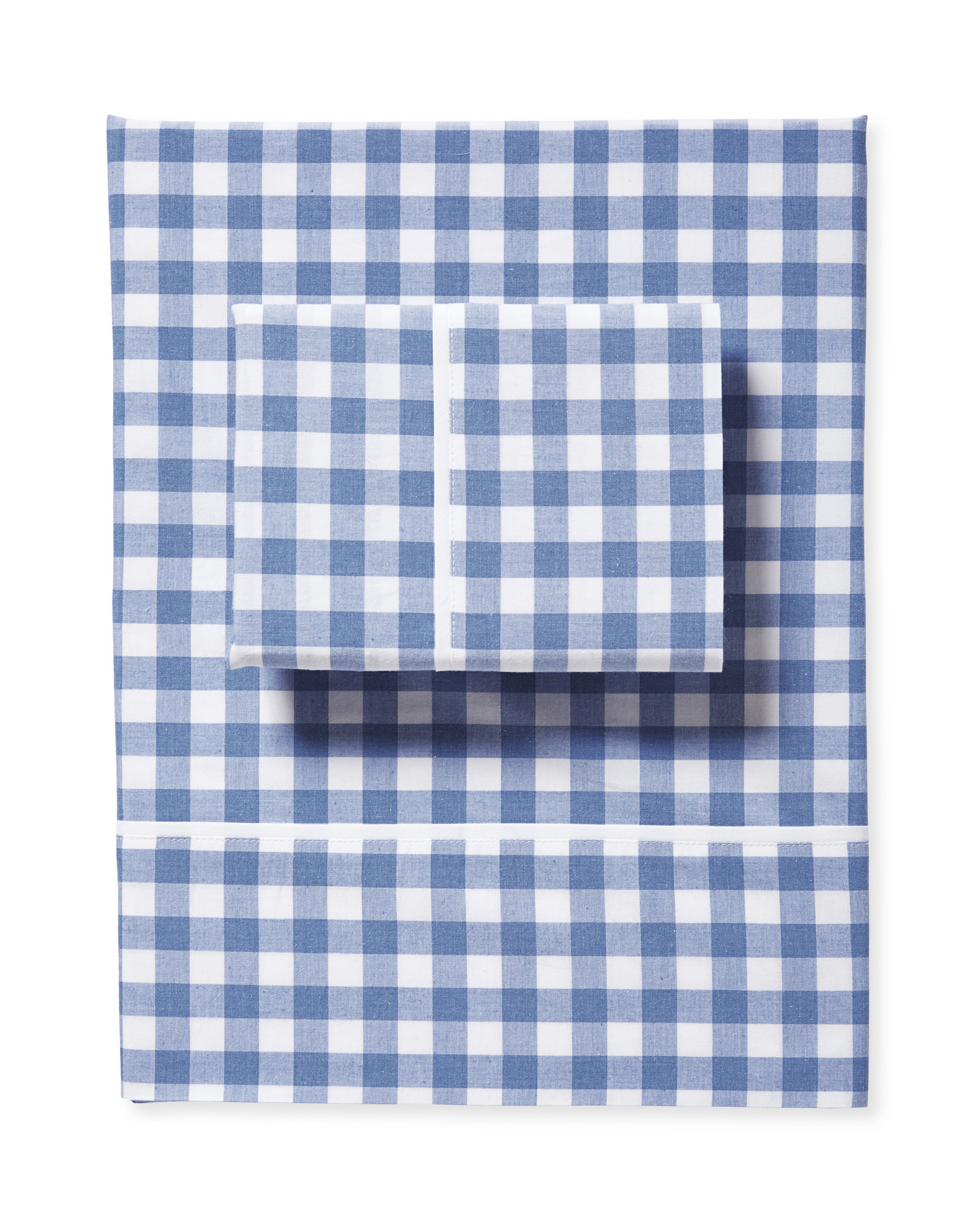 Gingham Sheet Set, French Blue