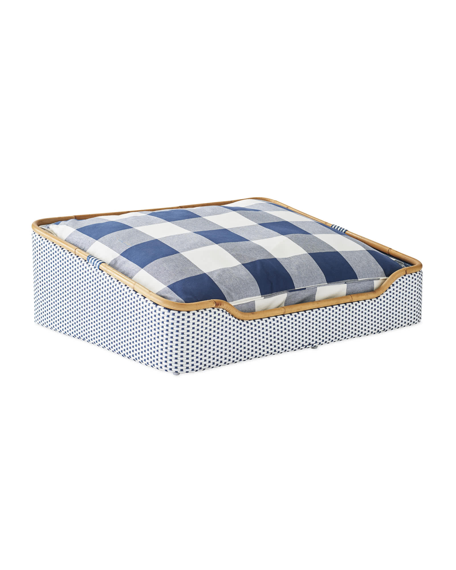 Riviera Dog Bed, Navy Gingham