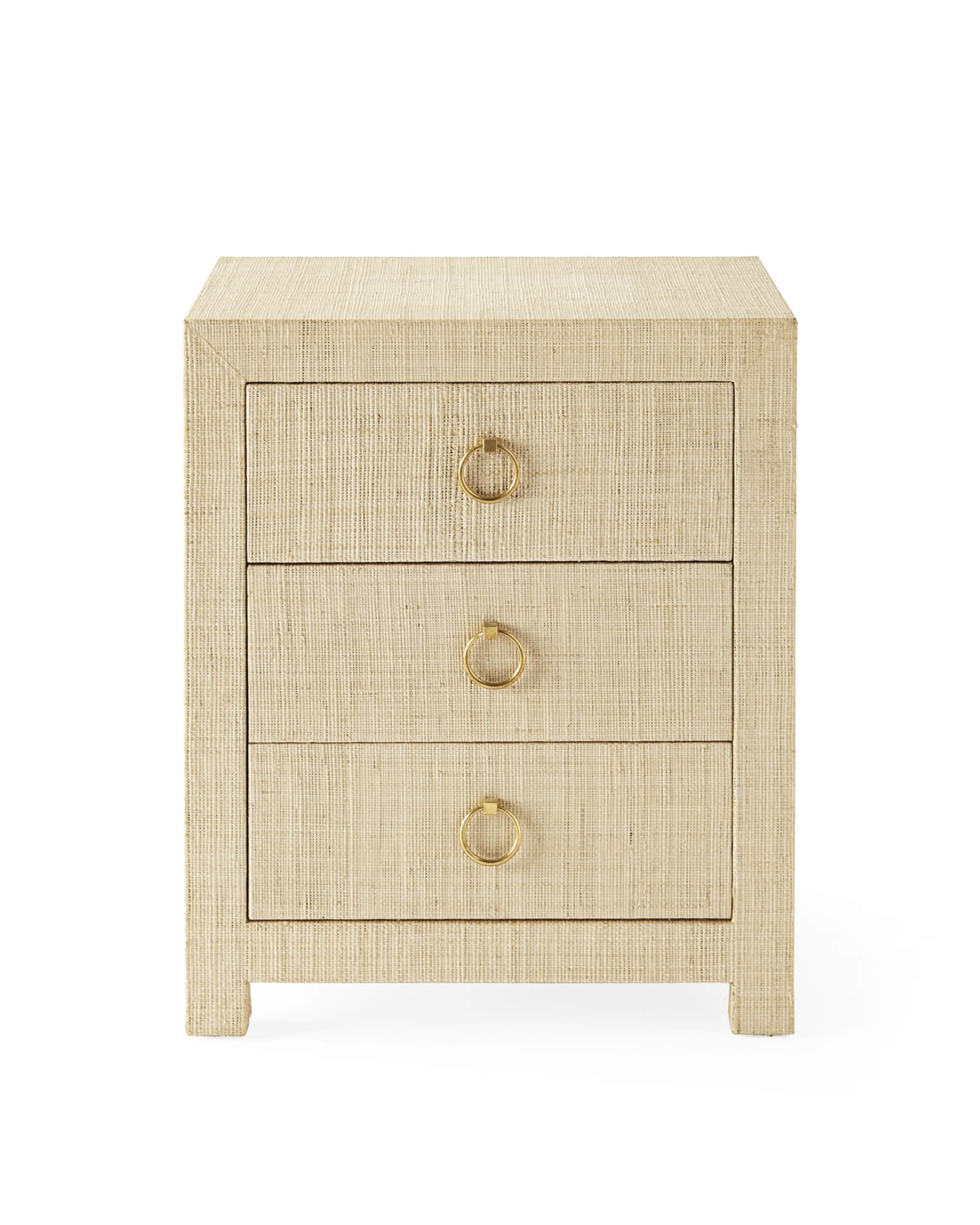 Blake 3-Drawer Nightstand, Natural