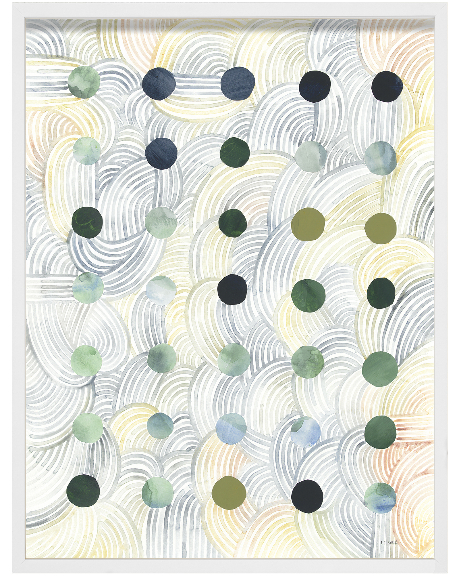 """Dots I"" by Ruth Le Roux,"
