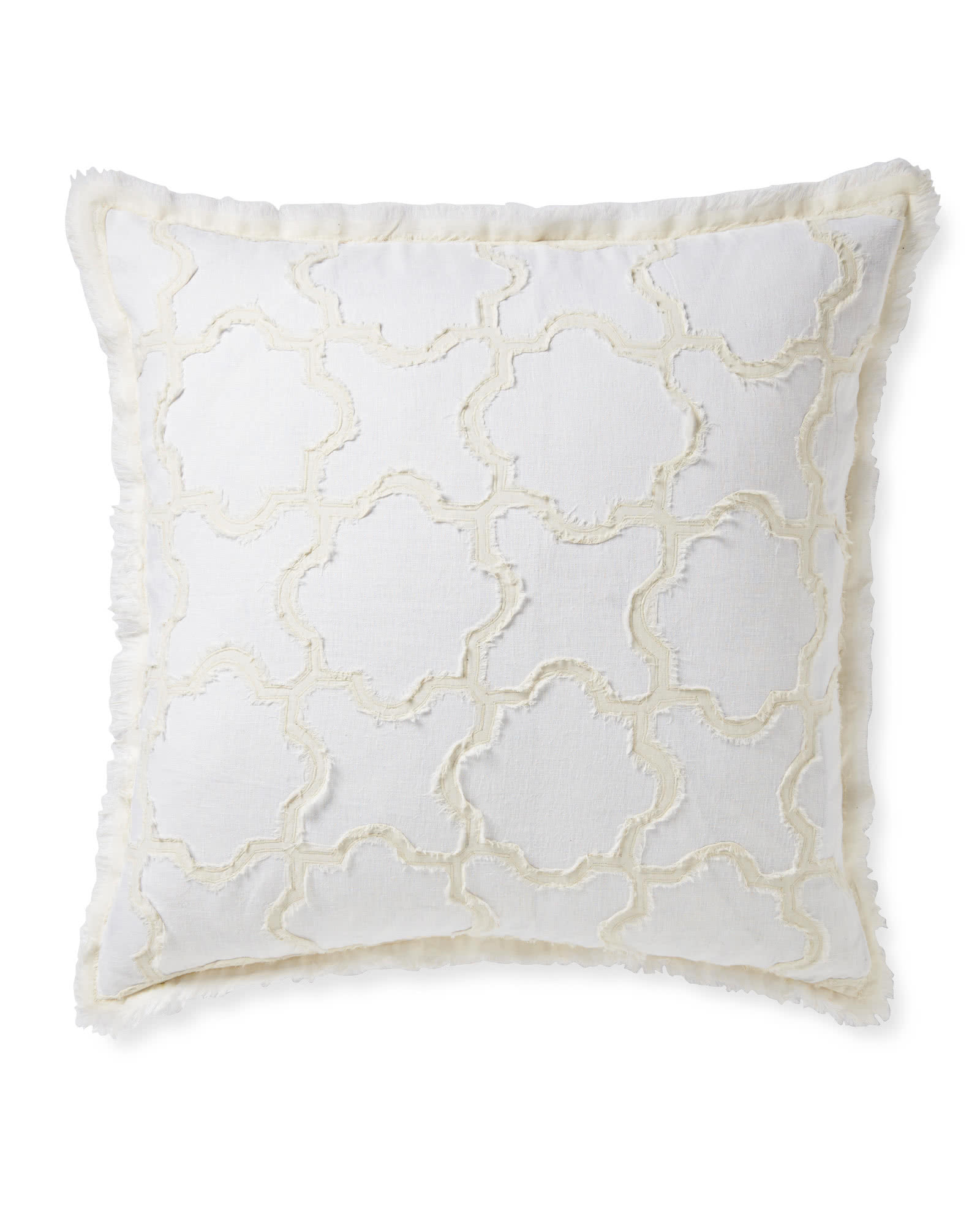 Barcelona Pillow Cover, White/Ivory