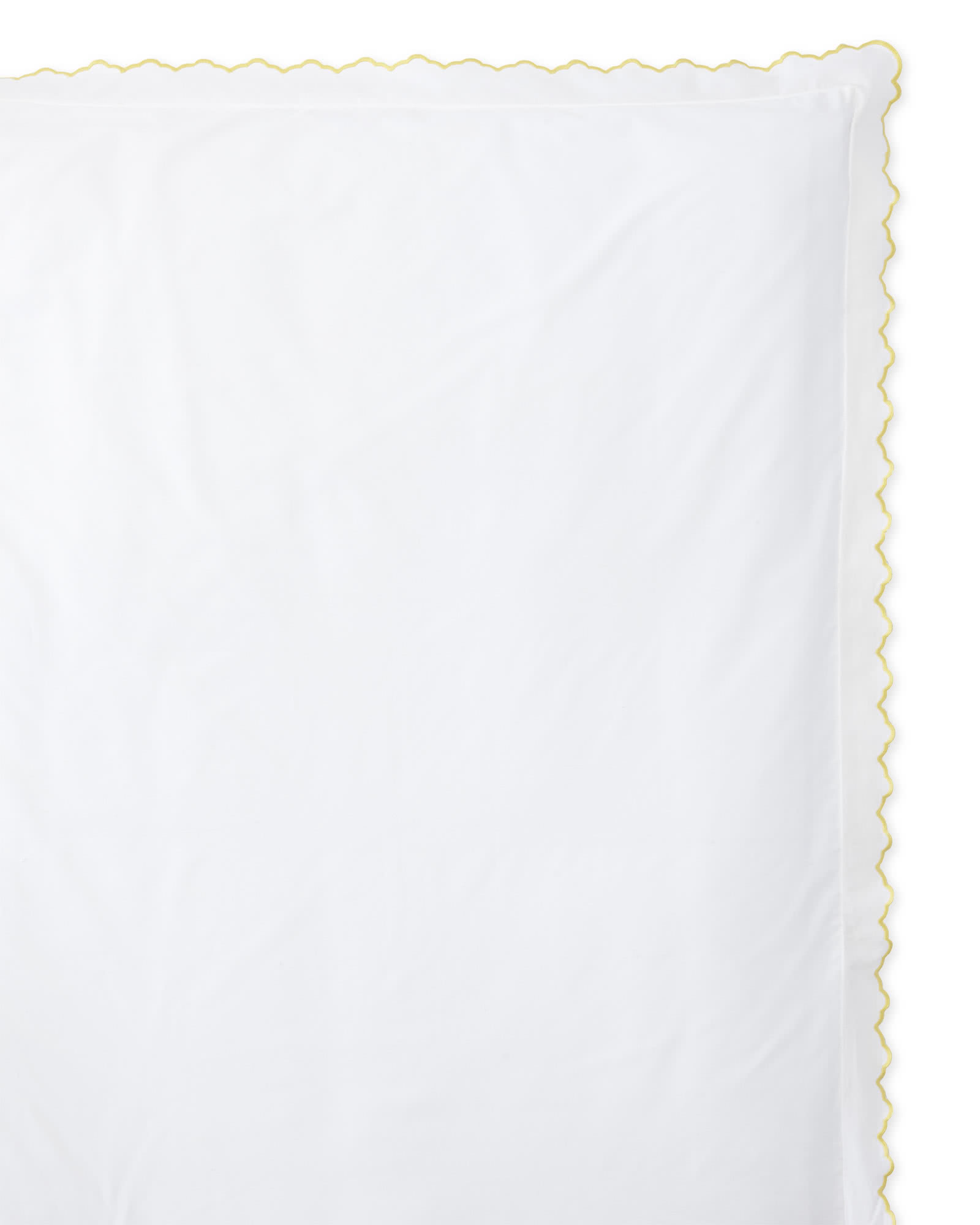 Scallop Embroidered Duvet Cover - Sunshine,